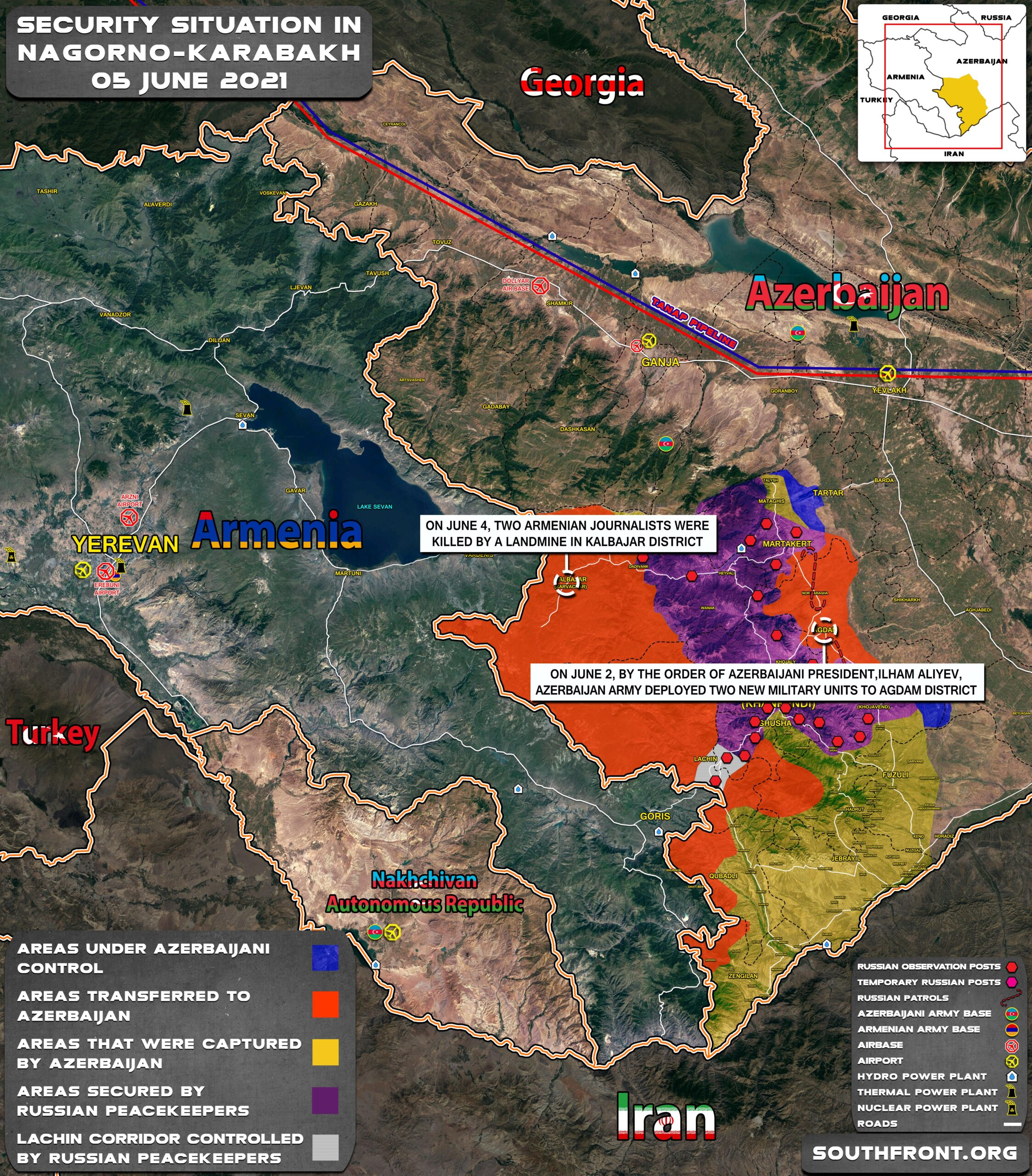 Military Situation In Nagorno-Karabakh On June 5, 2021 (Map Update)
