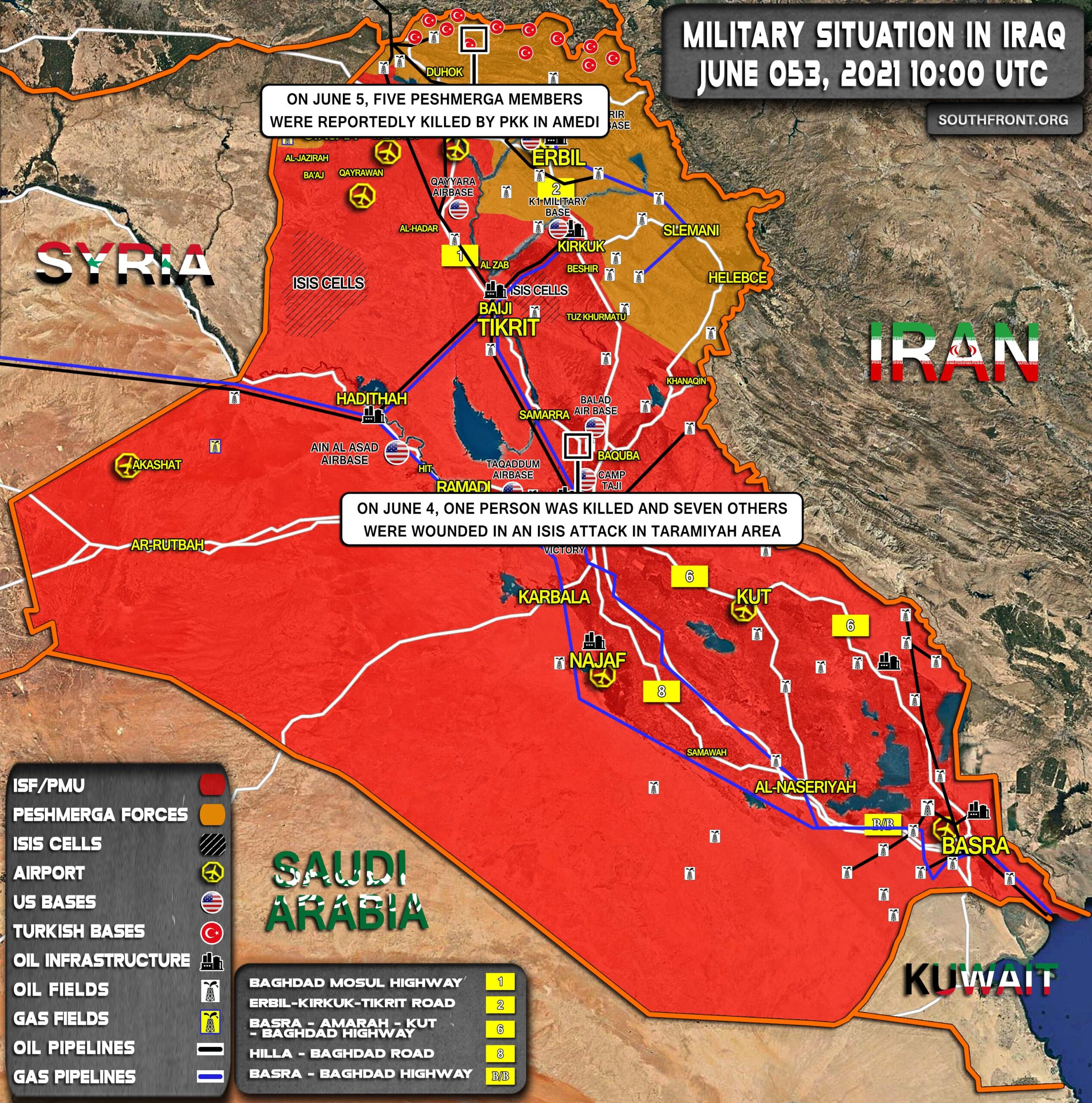 Military Situation In Iraq On June 5, 2021 (Map Update)