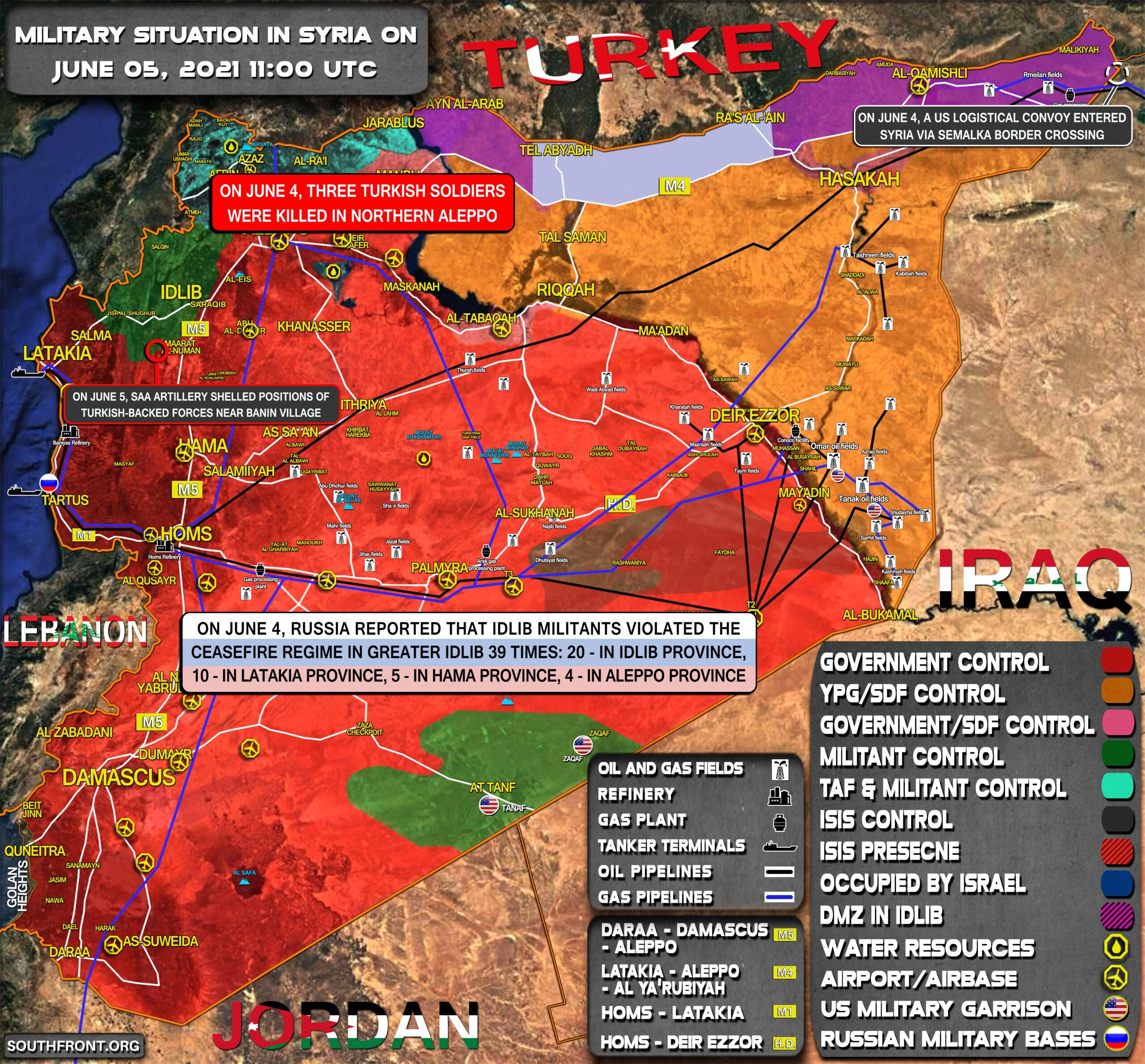 Military Situation In Syria On June 5, 2021 (Map Update)