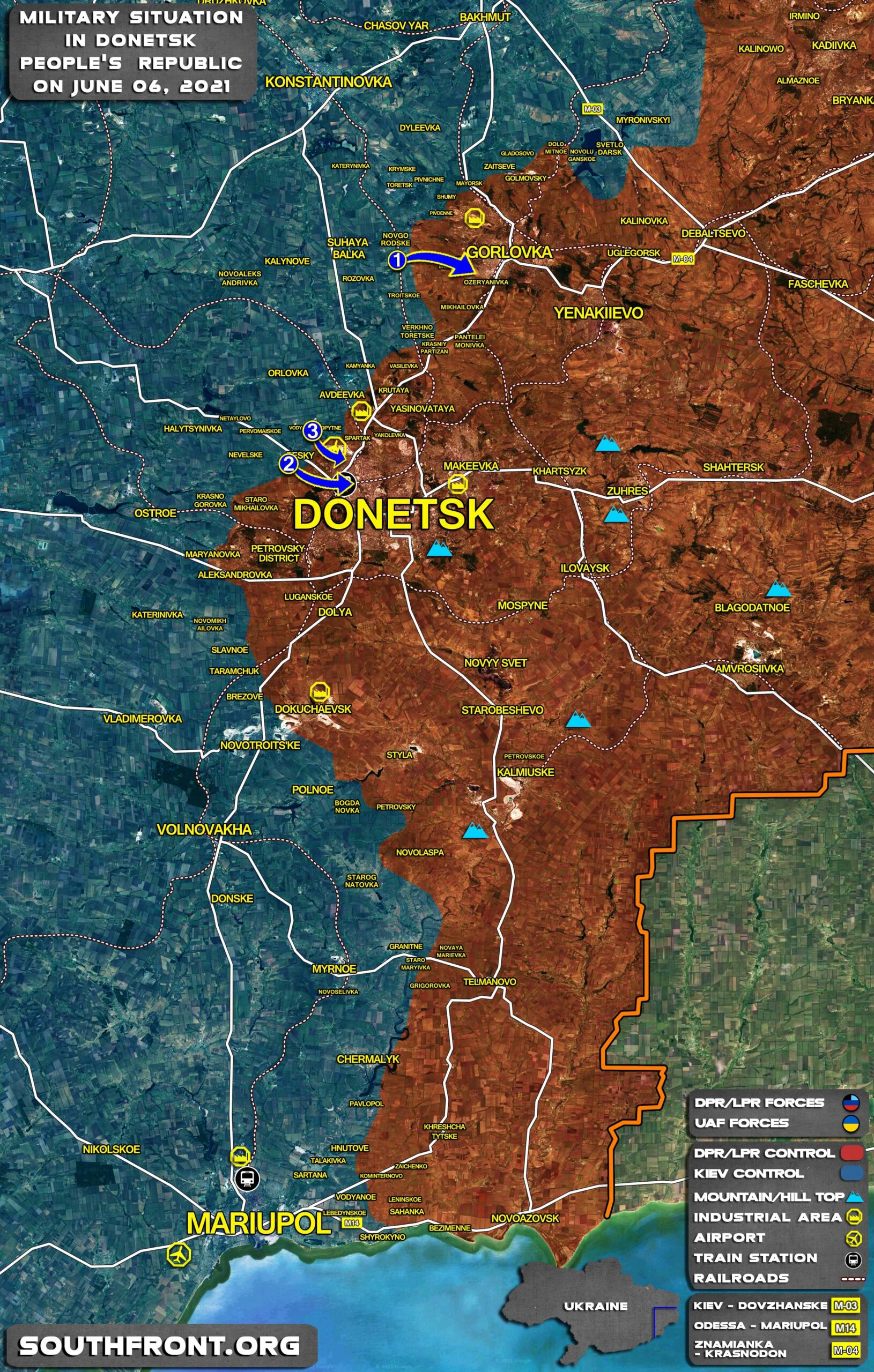 Military Situation In Donetsk People's Republic On June 6, 2021 (Map Update)