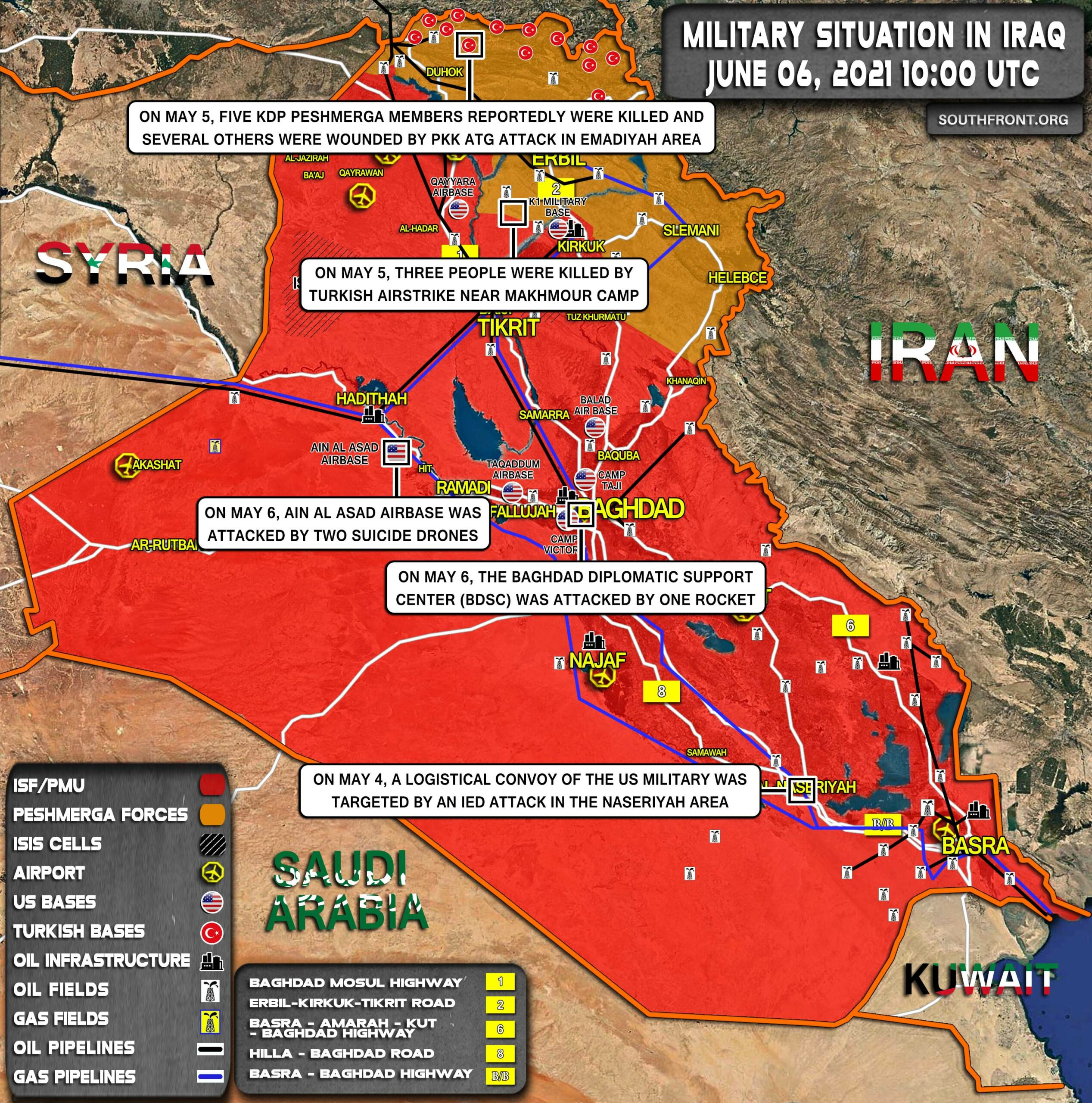 Military Situation In Iraq On June 6, 2021 (Map Update)