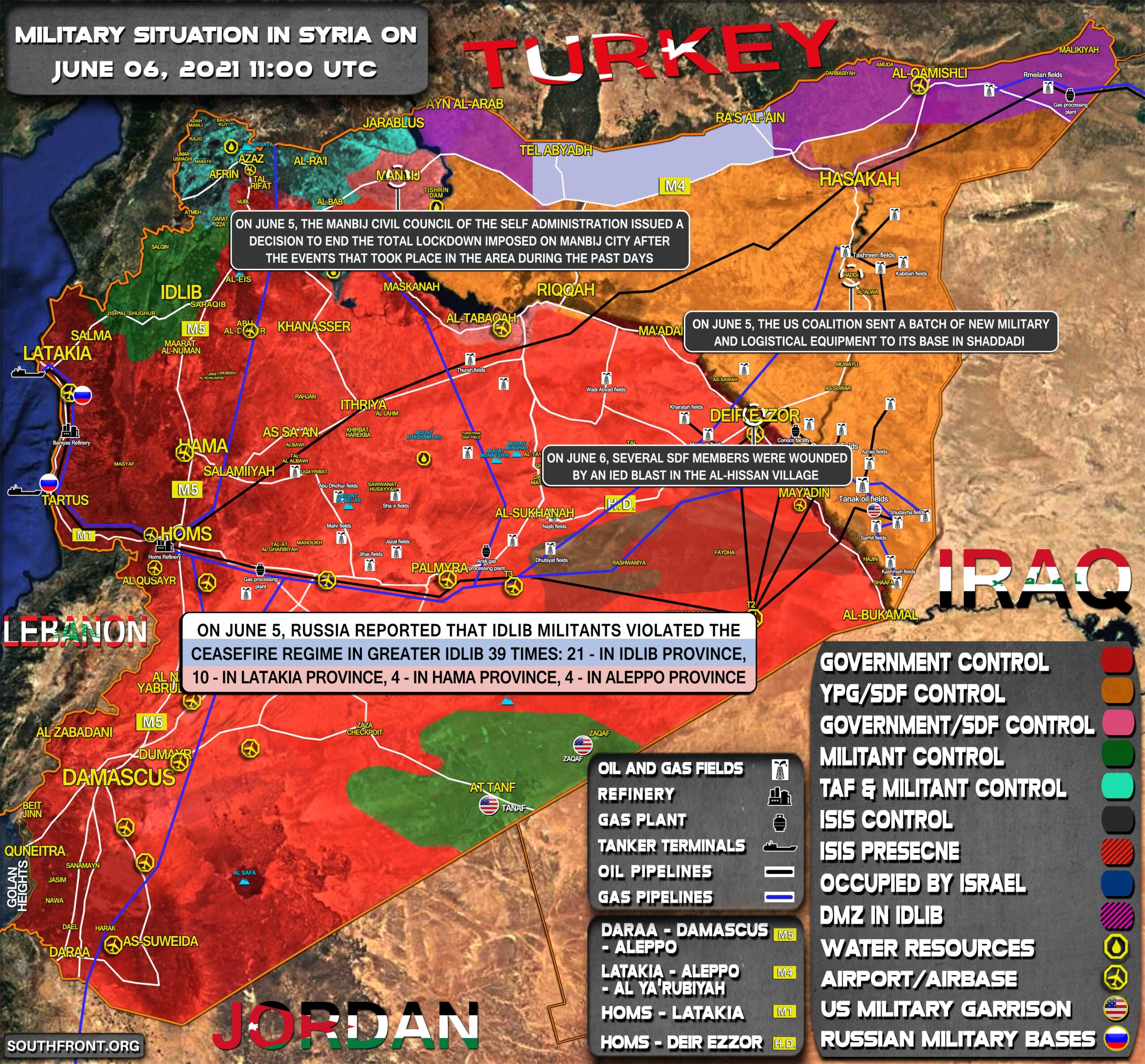 Military Situation In Syria On June 6, 2021 (Map Update)