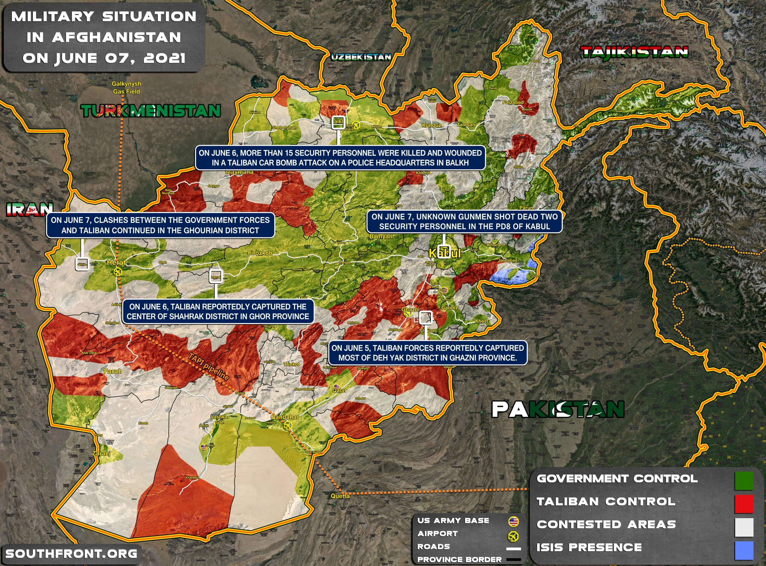 Military Situation In Afghanistan On June 7, 2021 (Map Update)