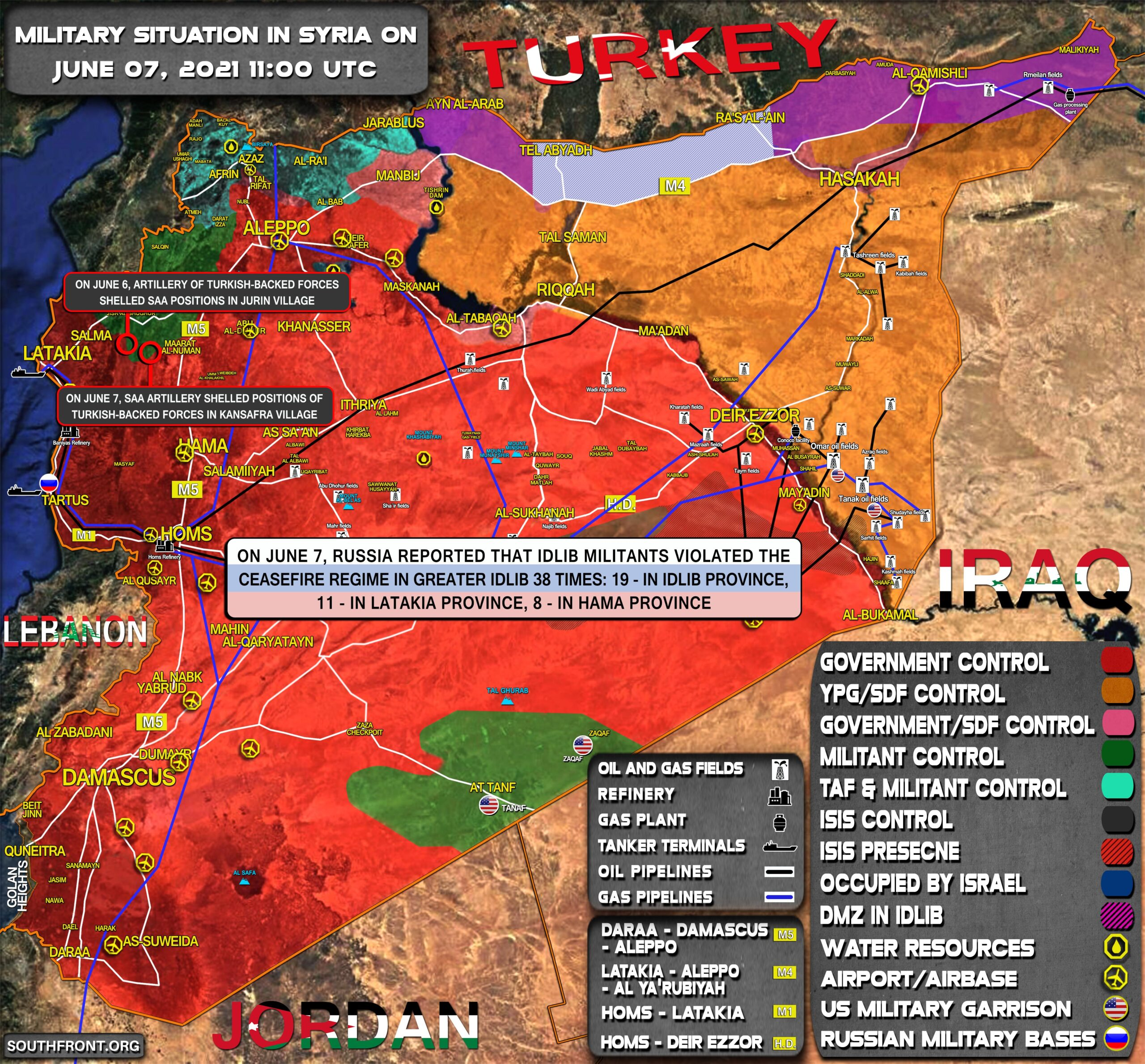 Military Situation In Syria On June 7, 2021 (Map Update)