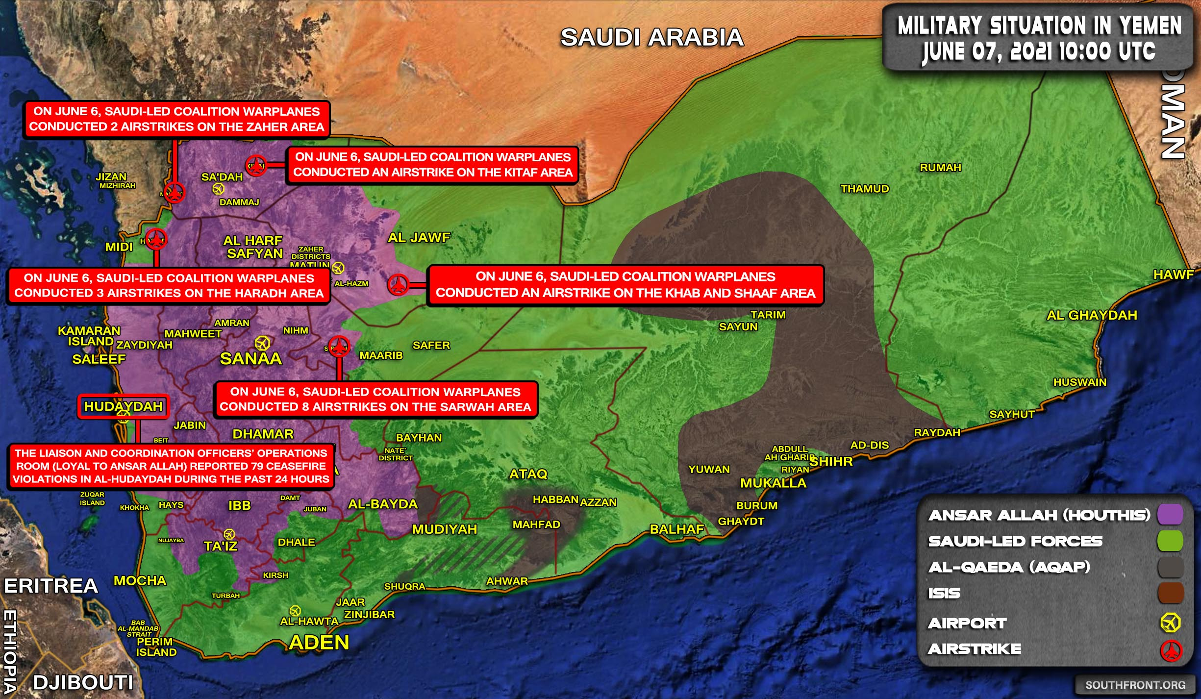 Military Situation In Yemen On June 7, 2021 (Map Update)