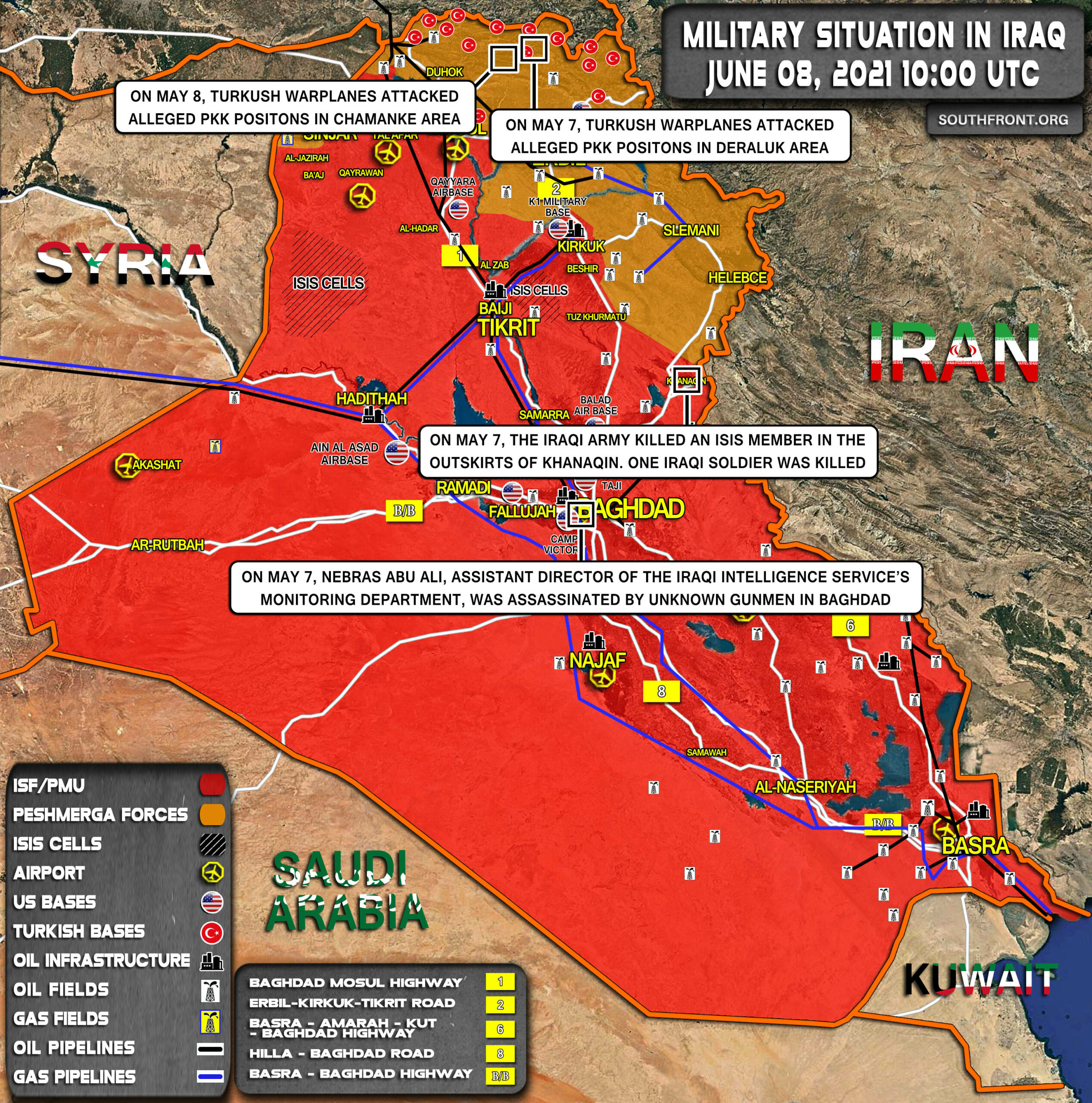 Military Situation In Iraq On June 8, 2021 (Map Update)