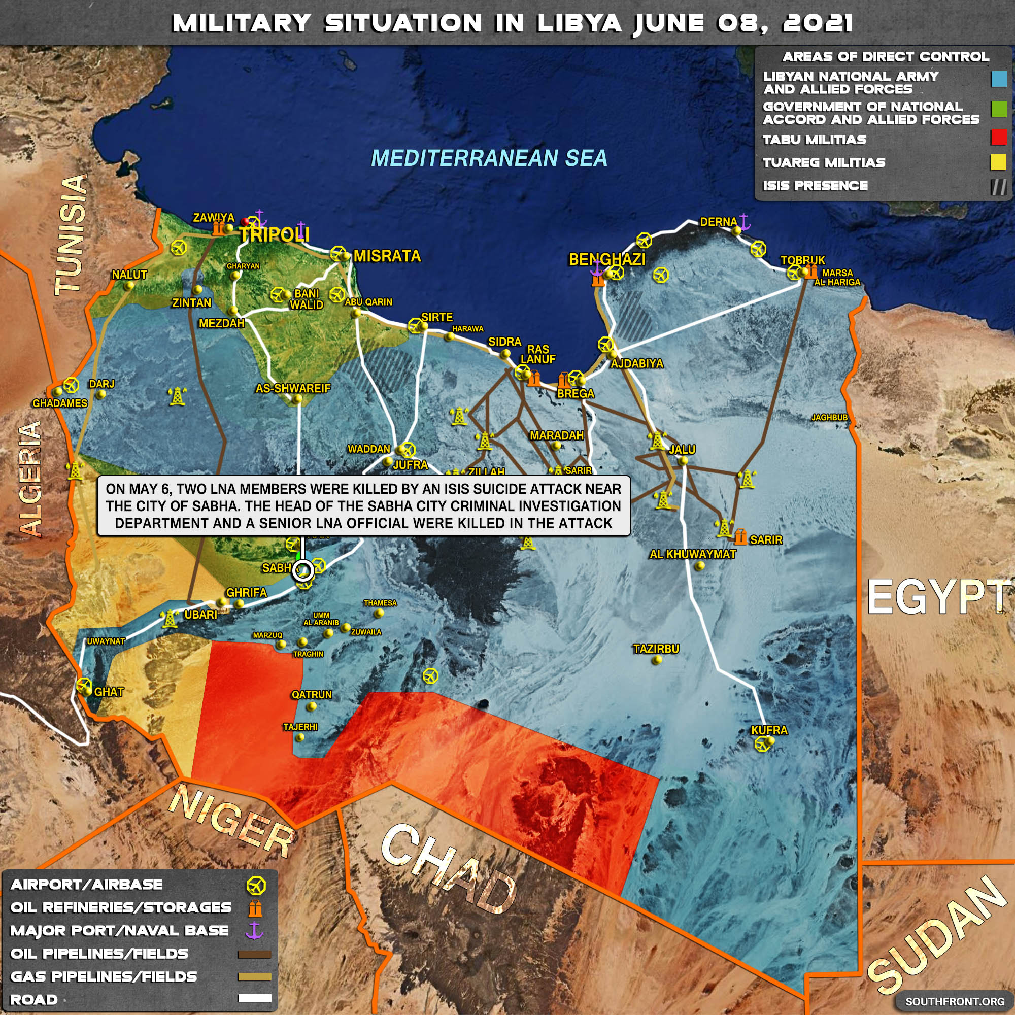 Military Situation In Libya On June 8, 2021 (Map Update)