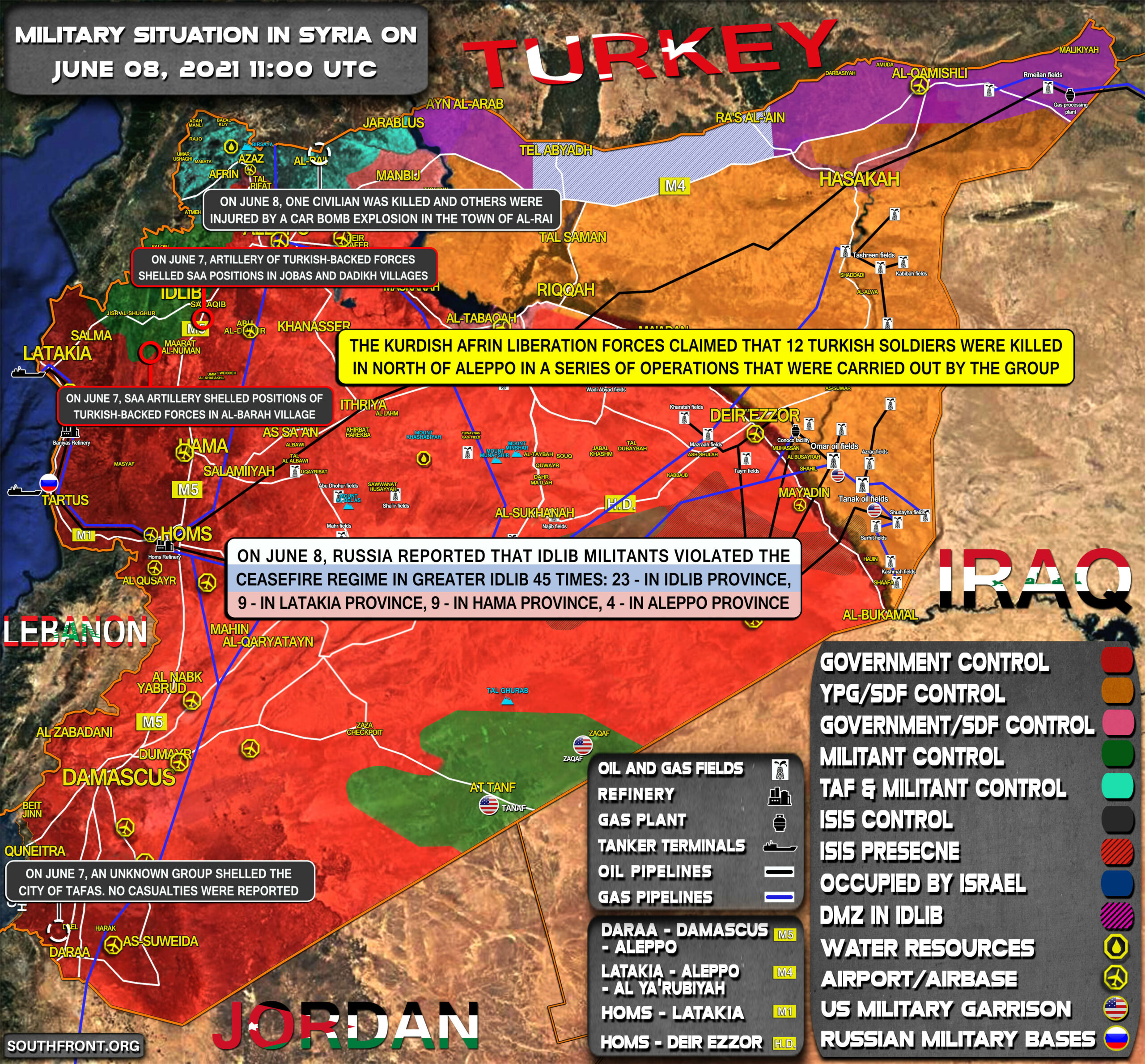 Military Situation In Syria On June 8, 2021 (Map Update)