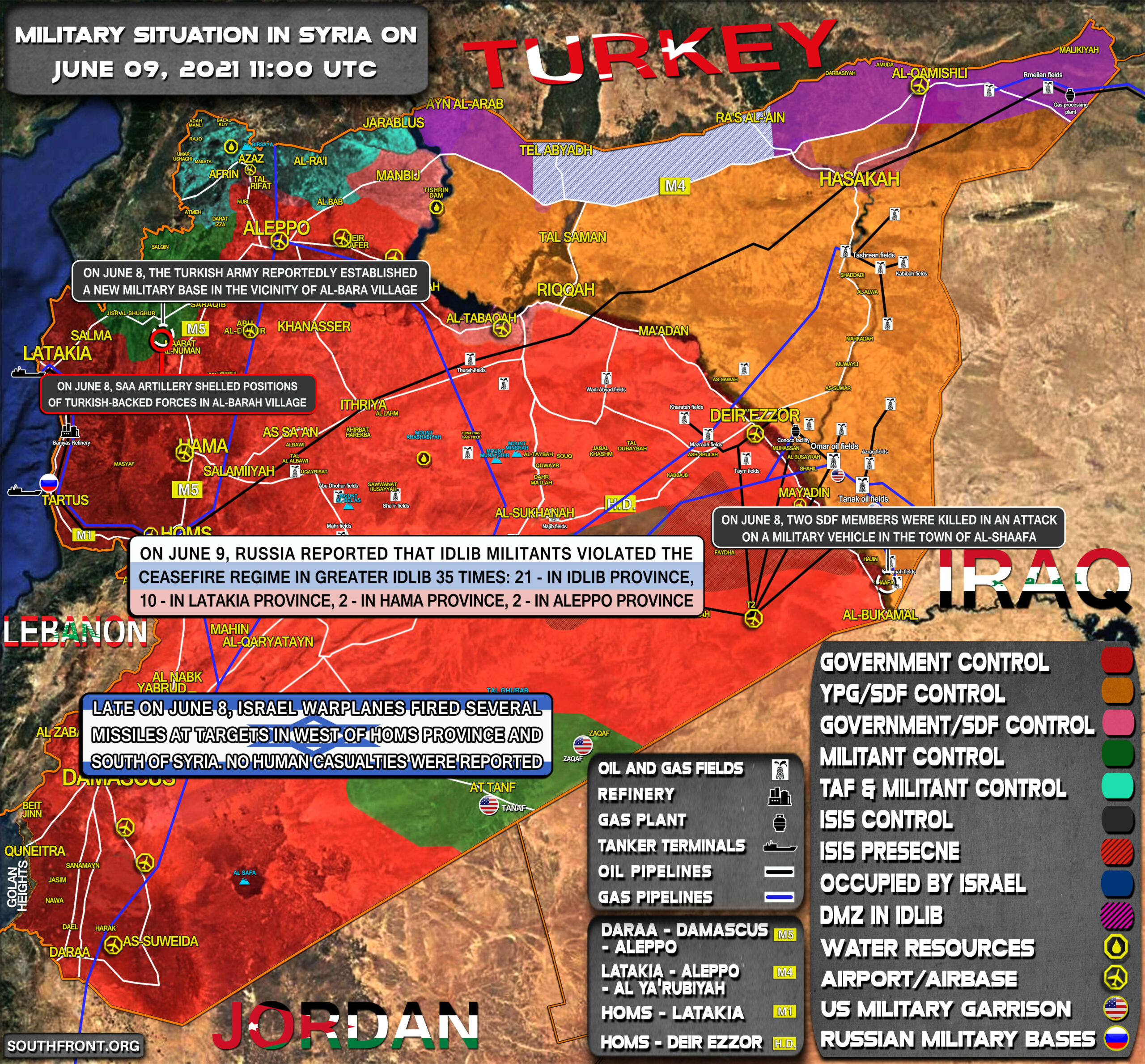 Military Situation In Syria On June 9, 2021 (Map Update)