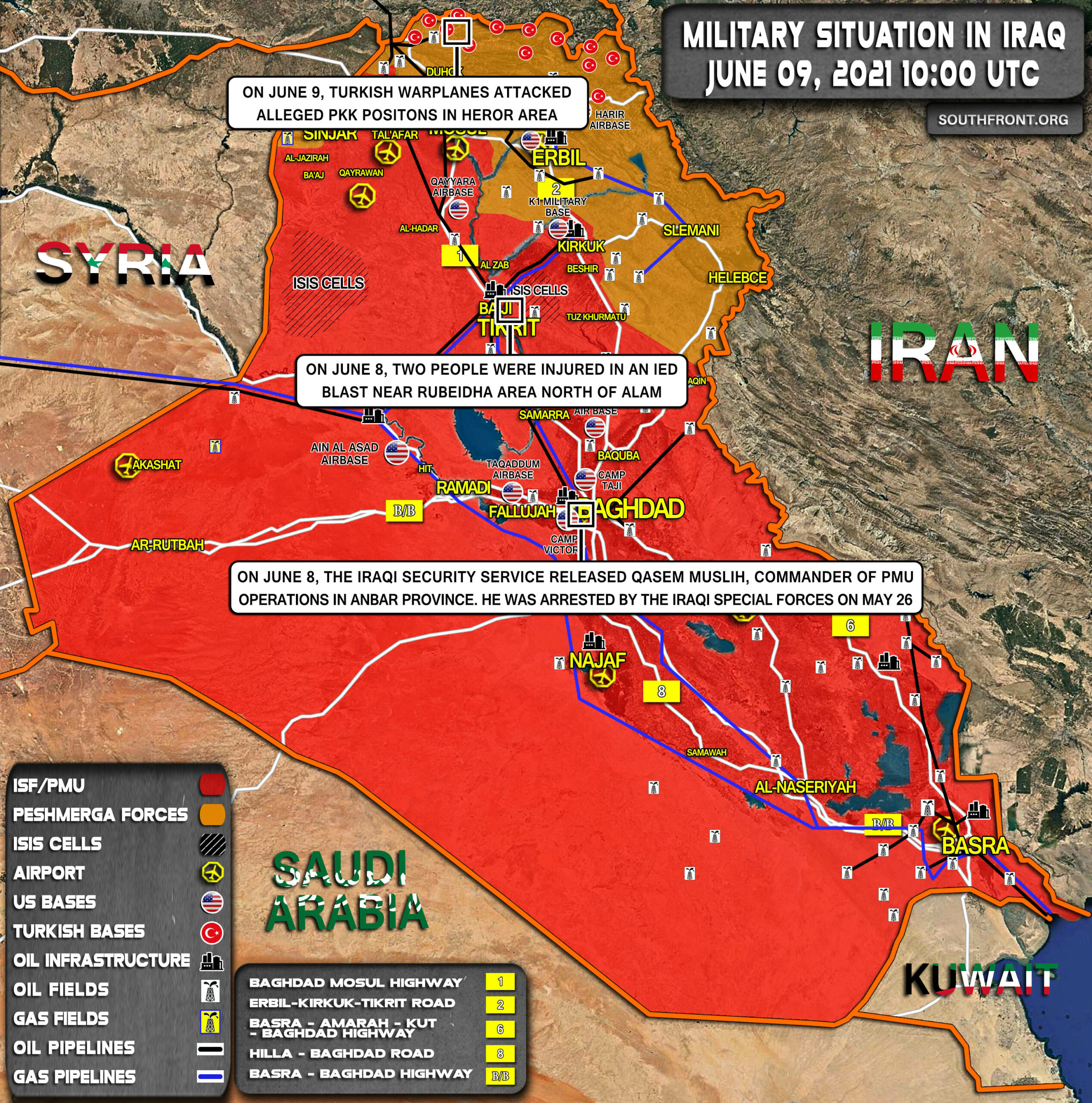 Military Situation In Iraq On June 9, 2021 (Map Update)