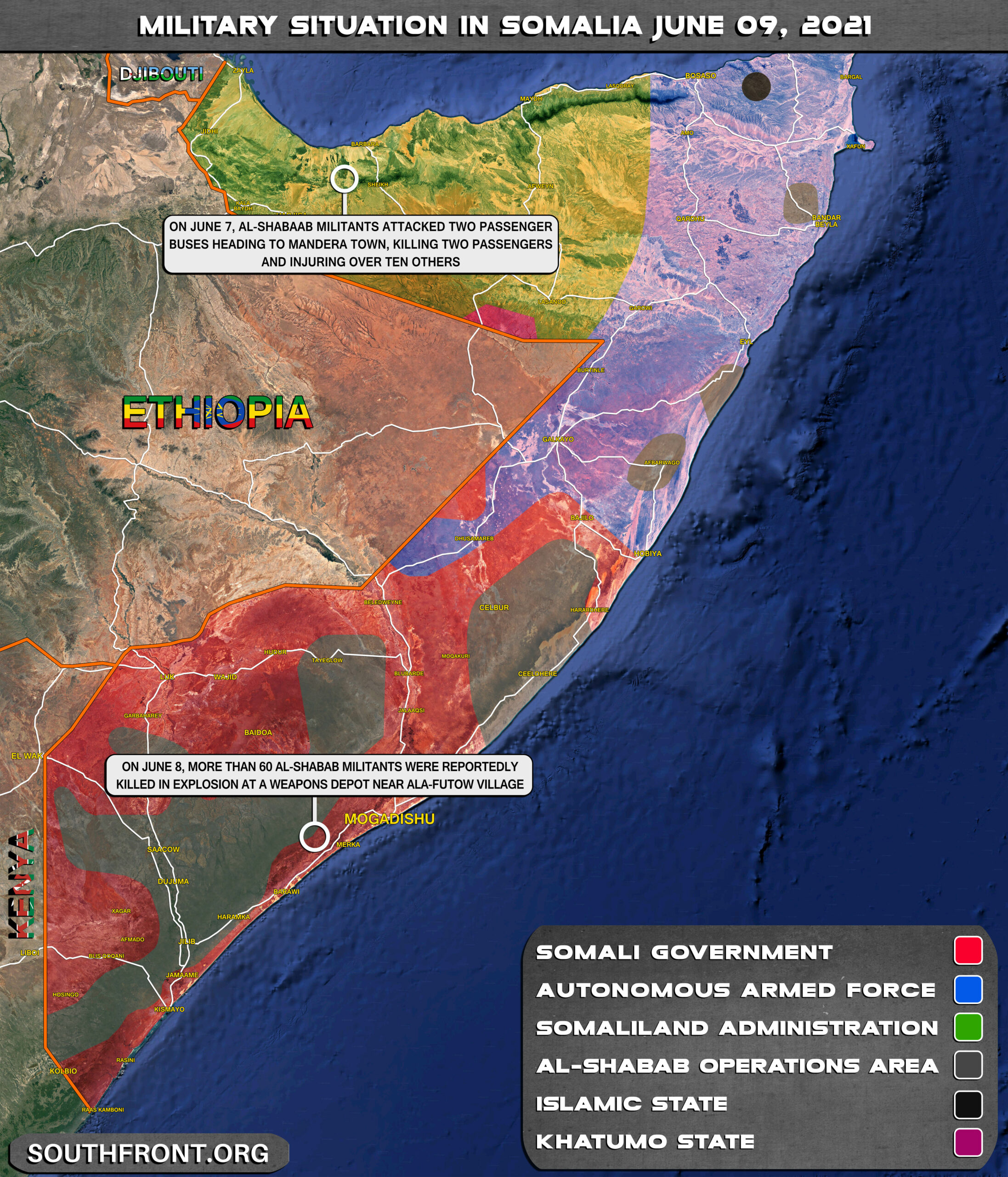 Military Situation In Somalia On June 9, 2021 (Map Update)