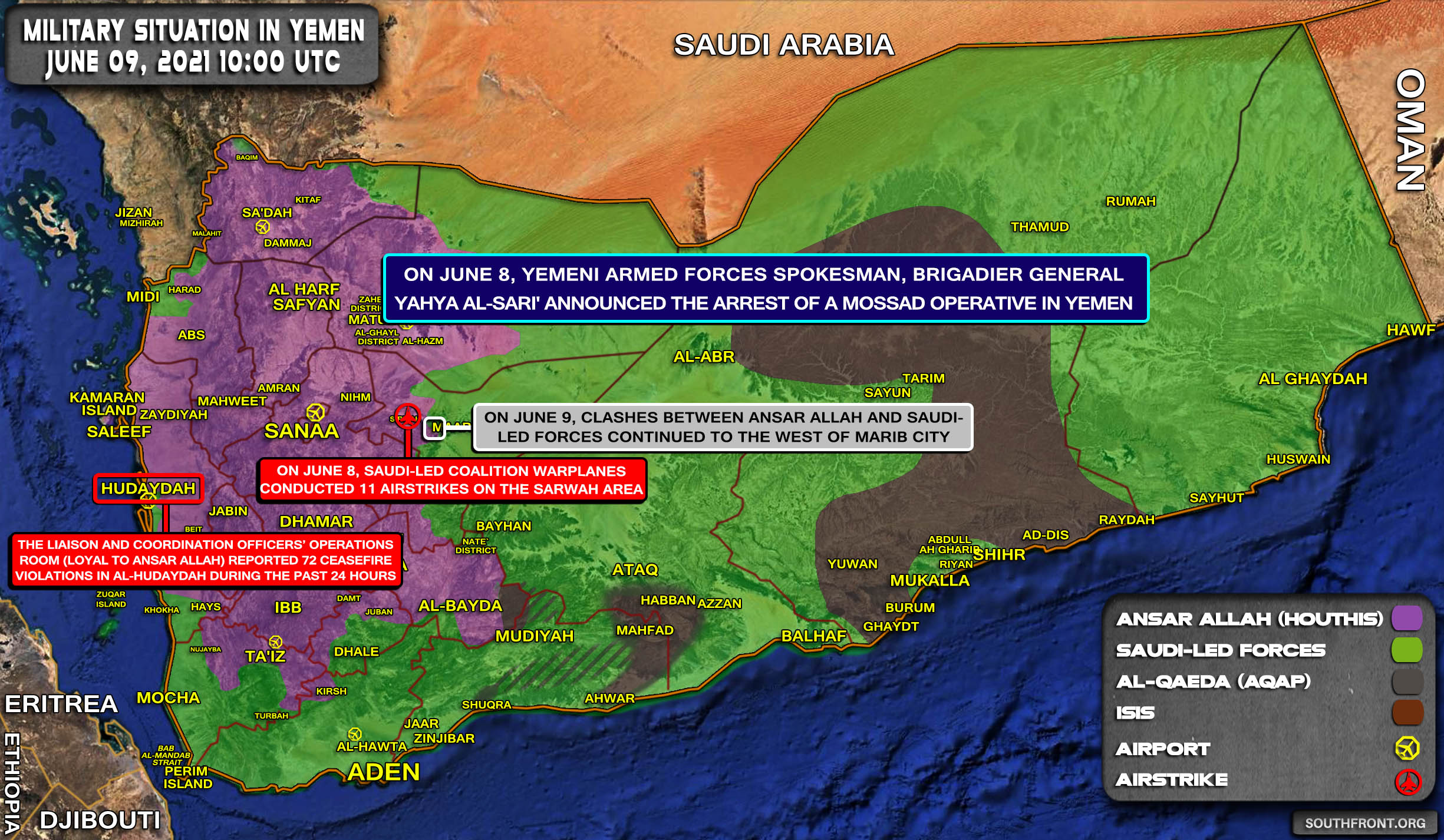 Military Situation In Yemen On June 9, 2021 (Map Update)