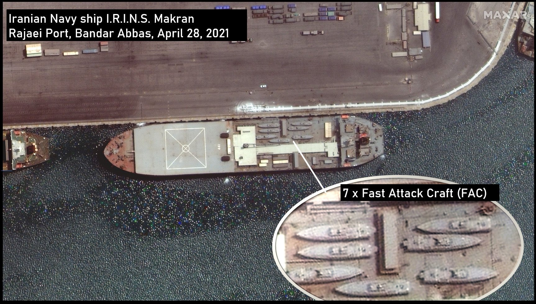 Two Iranian Ships, One Loaded With Fast Missile Craft Sailing Toward The Atlantic
