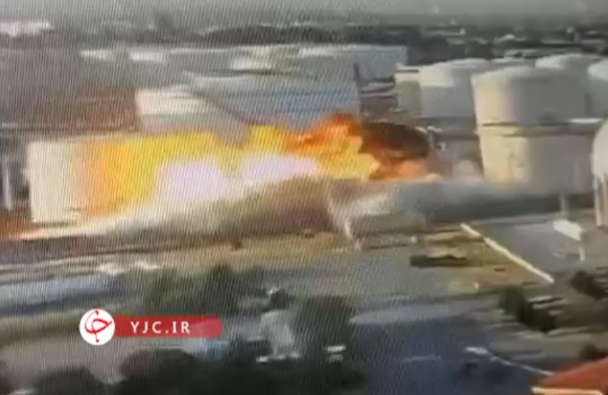 Video Shows Moment Of Explosion At Tondguyan Refinery In Iran