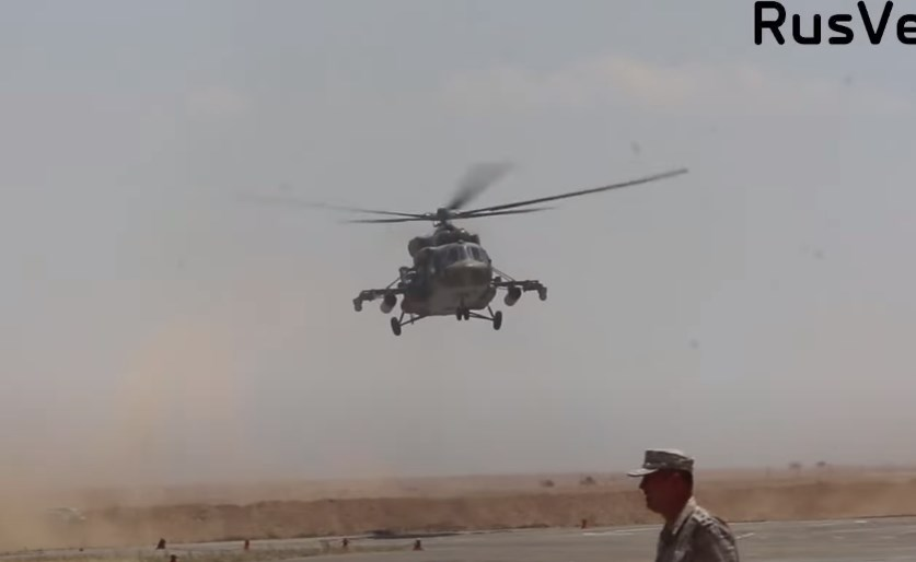 In Video: Russian Military Helicopters Operate From Al-Tabqah Airbase In Syria