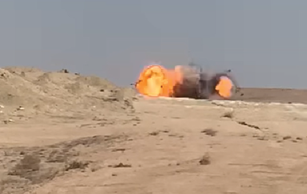 Iraqi Military Intelligence Thwarted Terrorists Attack, Destroyed VBIED In Al-Anbar (Video)