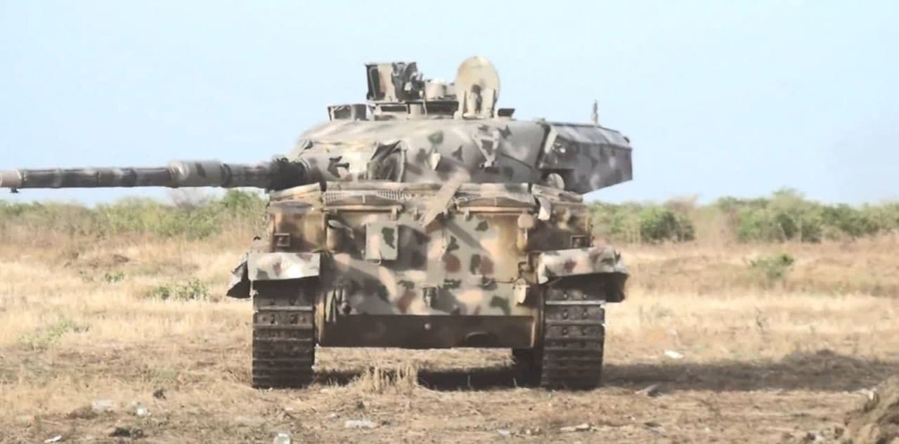 ISIS Terrorists Seized Nigerian Army Battle Tanks During Recent Attack In Borno (Photos)