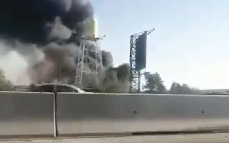 Large Fire Erupted At Iranian Soft Drink Factory Near Tehran (Video)