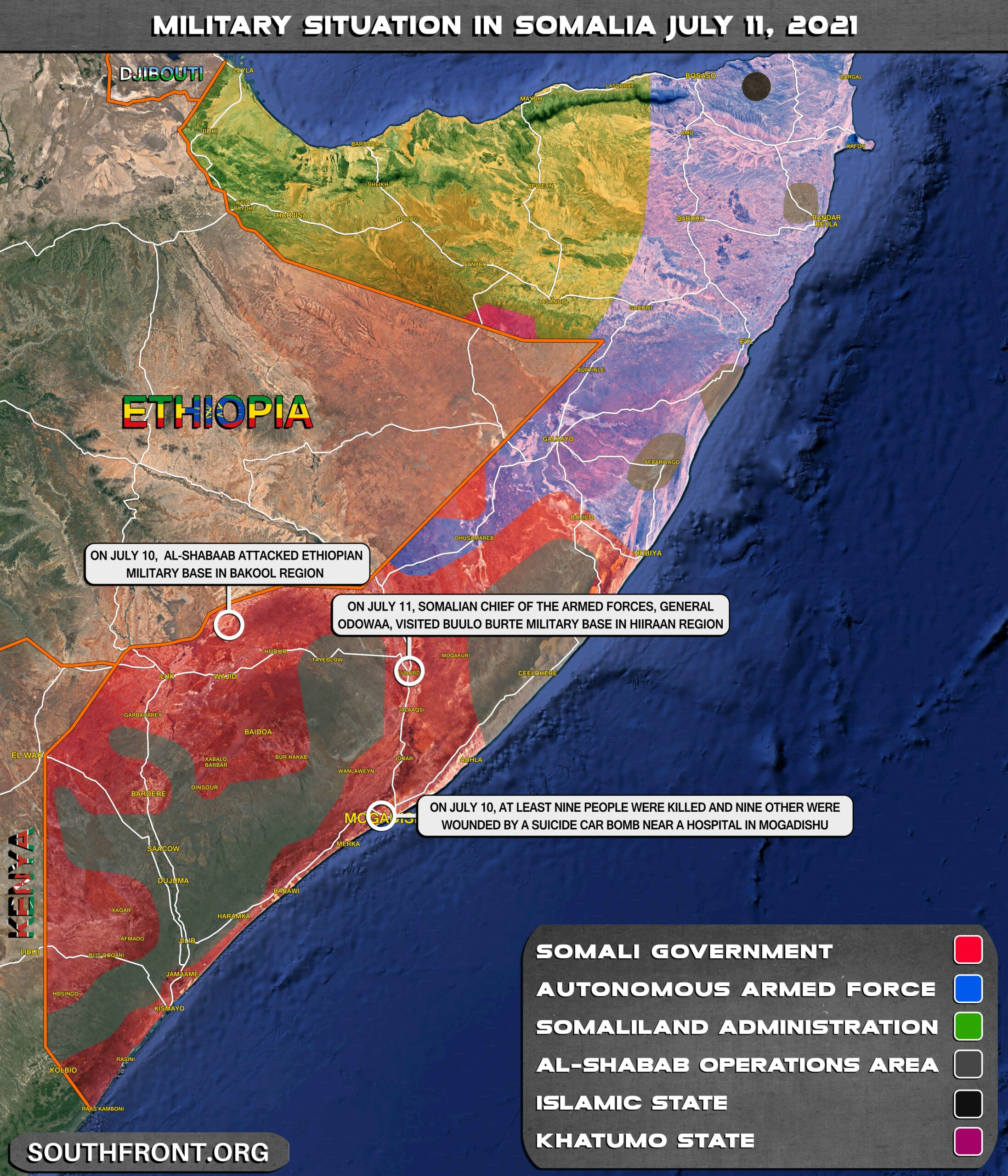Military Situation In Somalia On July 11, 2021 (Map Update)