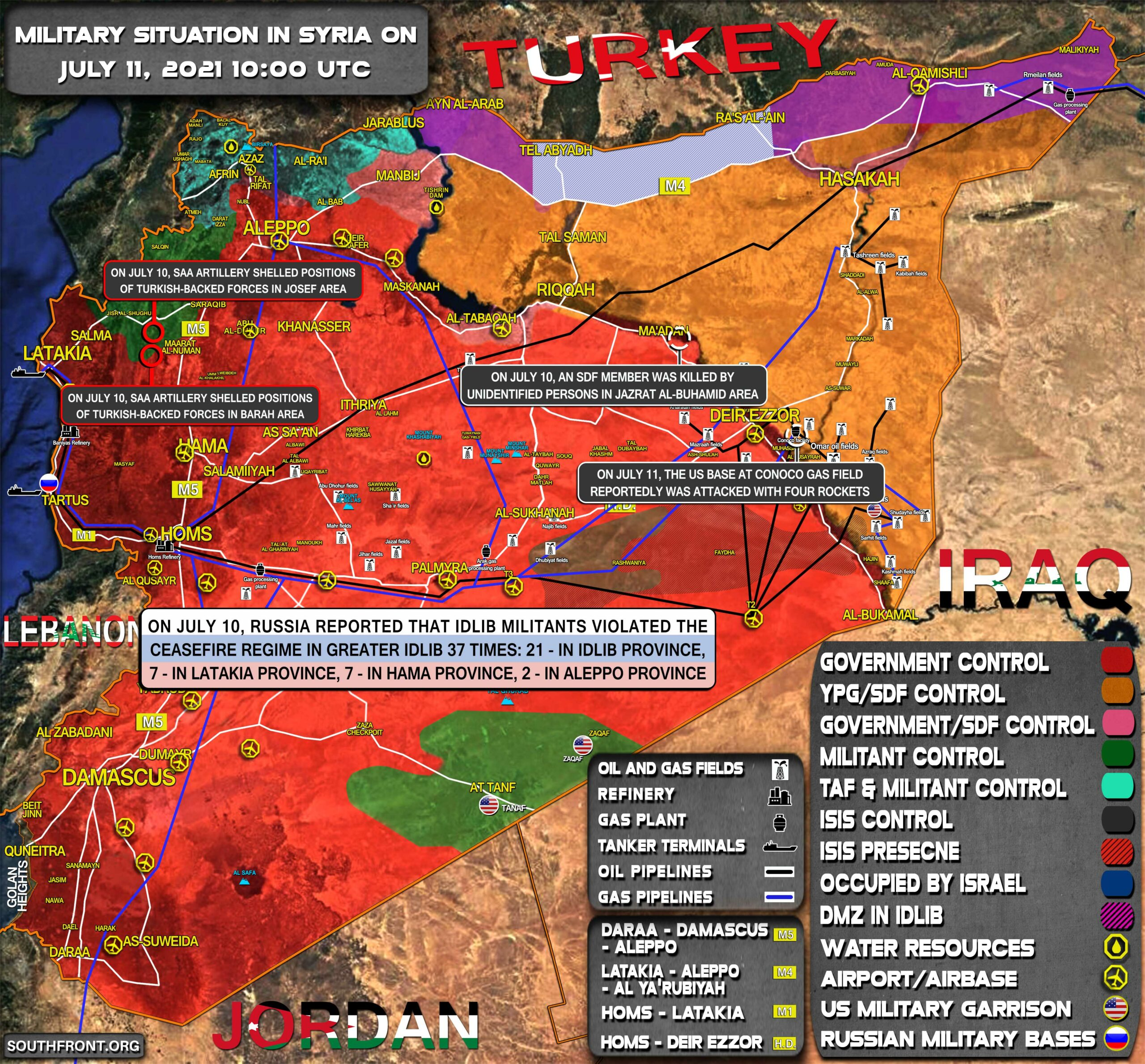 Military Situation In Syria On July 11, 2021 (Map Update)