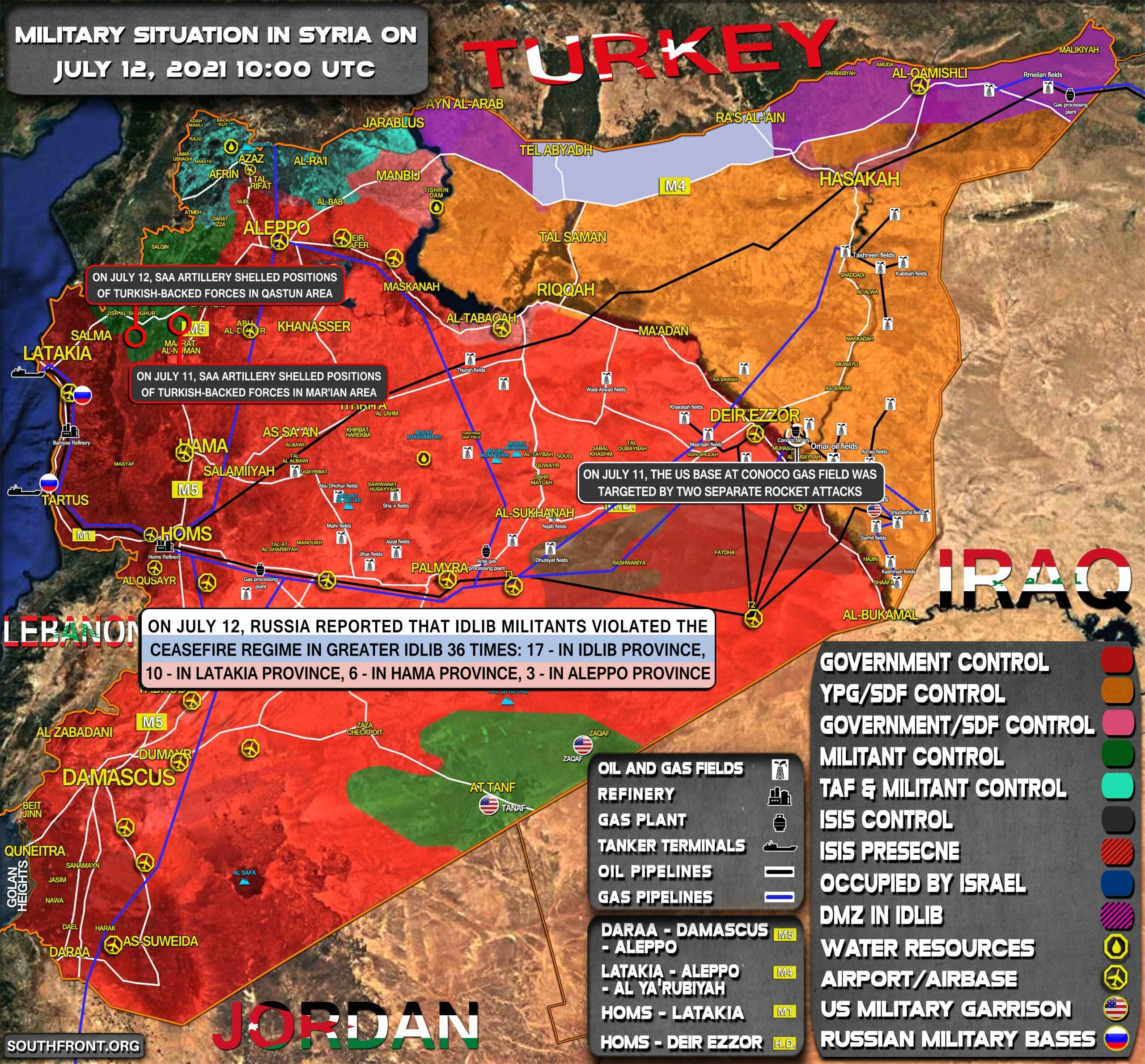 Military Situation In Syria On July 12, 2021 (Map Update)