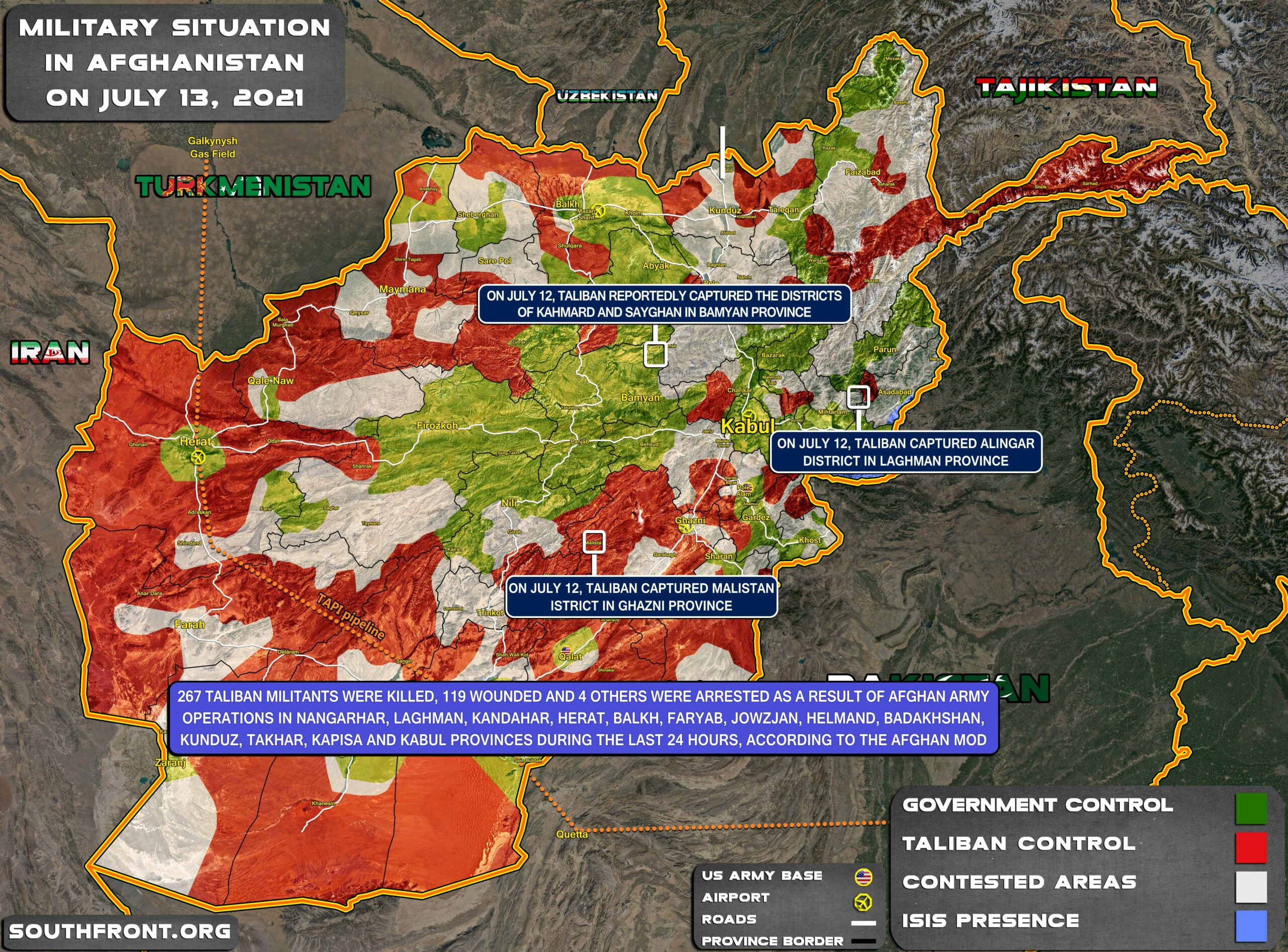 Government Forces Launch Counterattacks In Northern Afghanistan, As Kabul Officials Go To Doha For Talks With Taliban