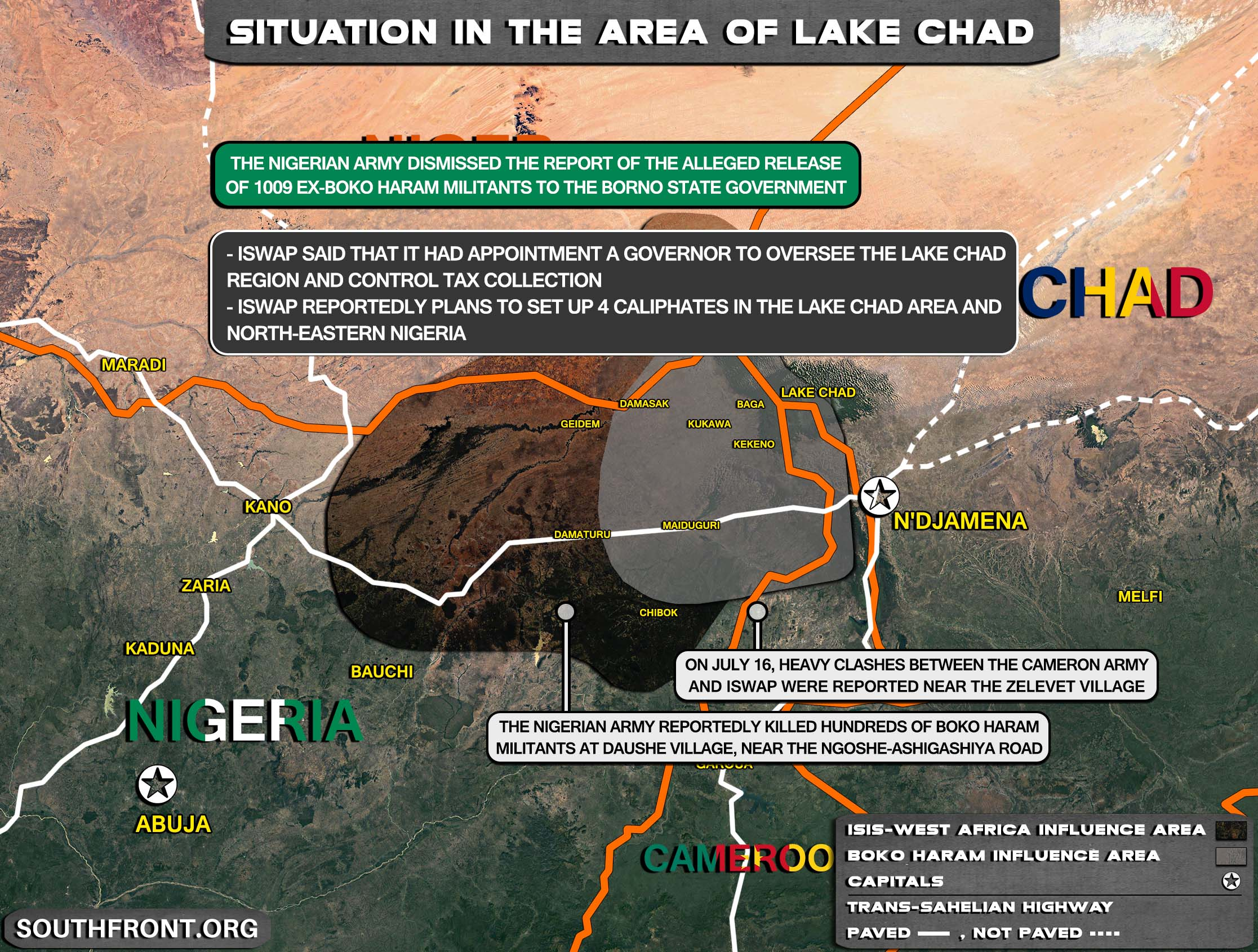 Military Situation In The Lake Chad Area On July 17, 2021 (Map Update)