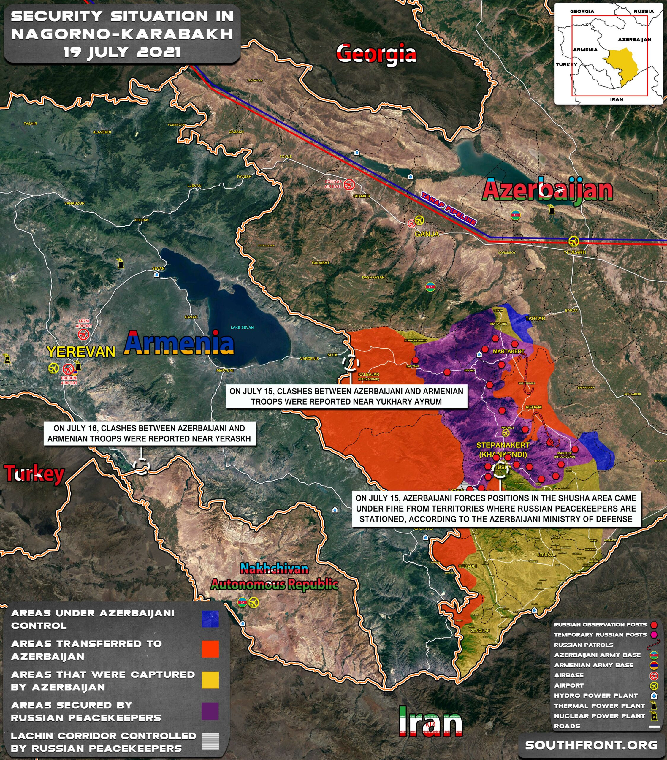 Military Situation In Nagorno-Karabakh On July 19, 2021 (Map Update)