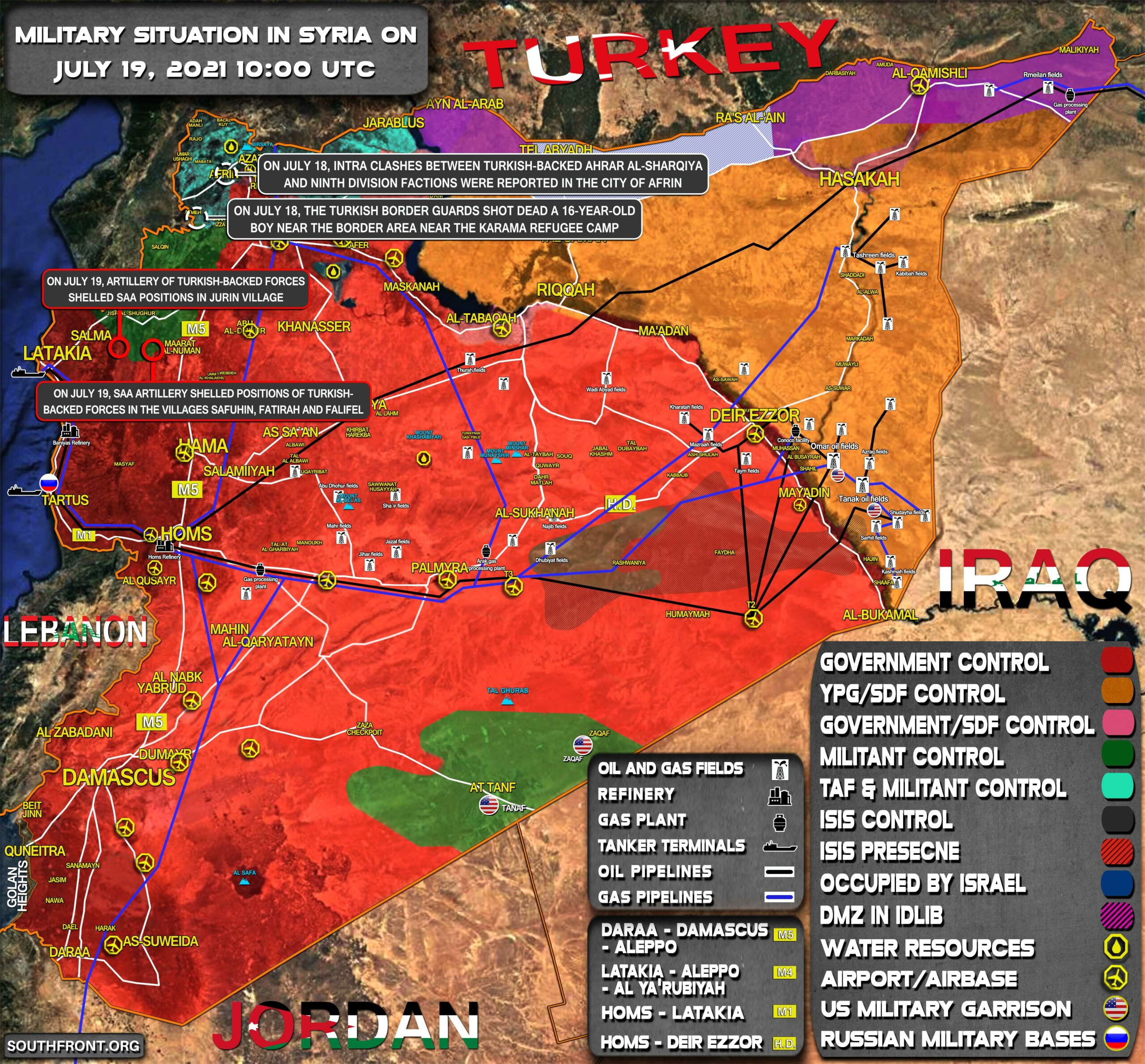 Military Situation In Syria On July 19, 2021 (Map Update)