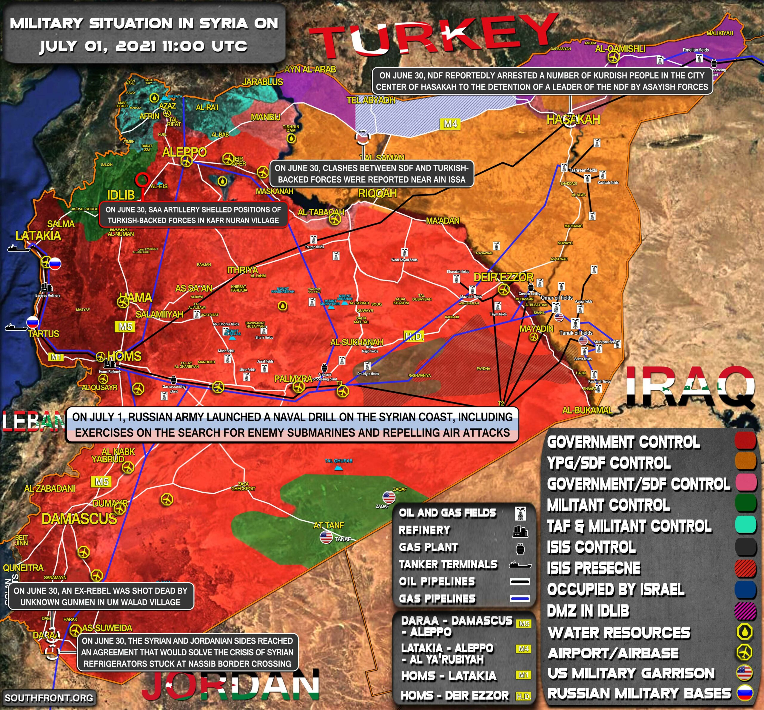 Military Situation In Syria On July 1, 2021 (Map Update)