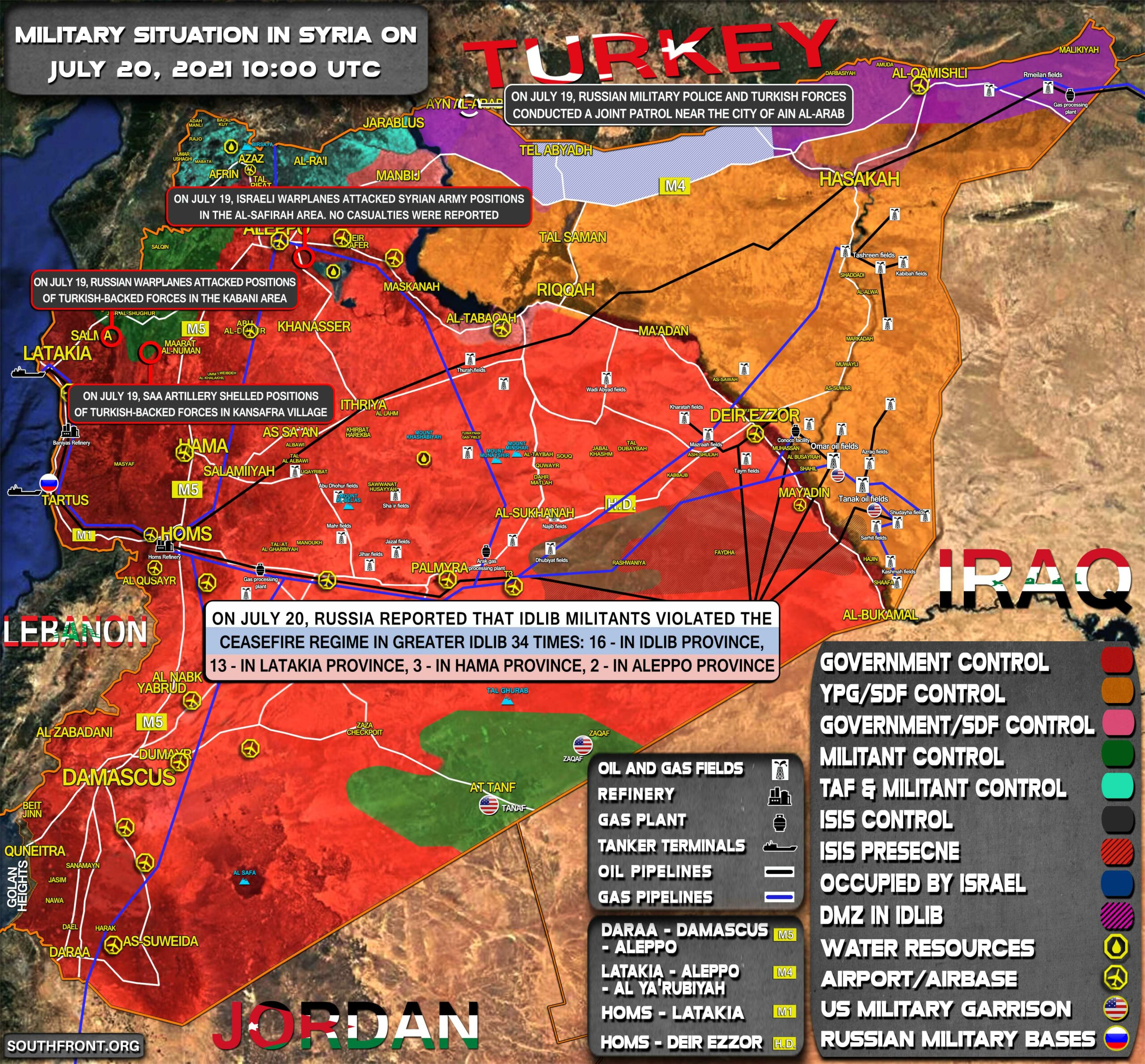 Military Situation In Syria On July 20, 2021 (Map Update)