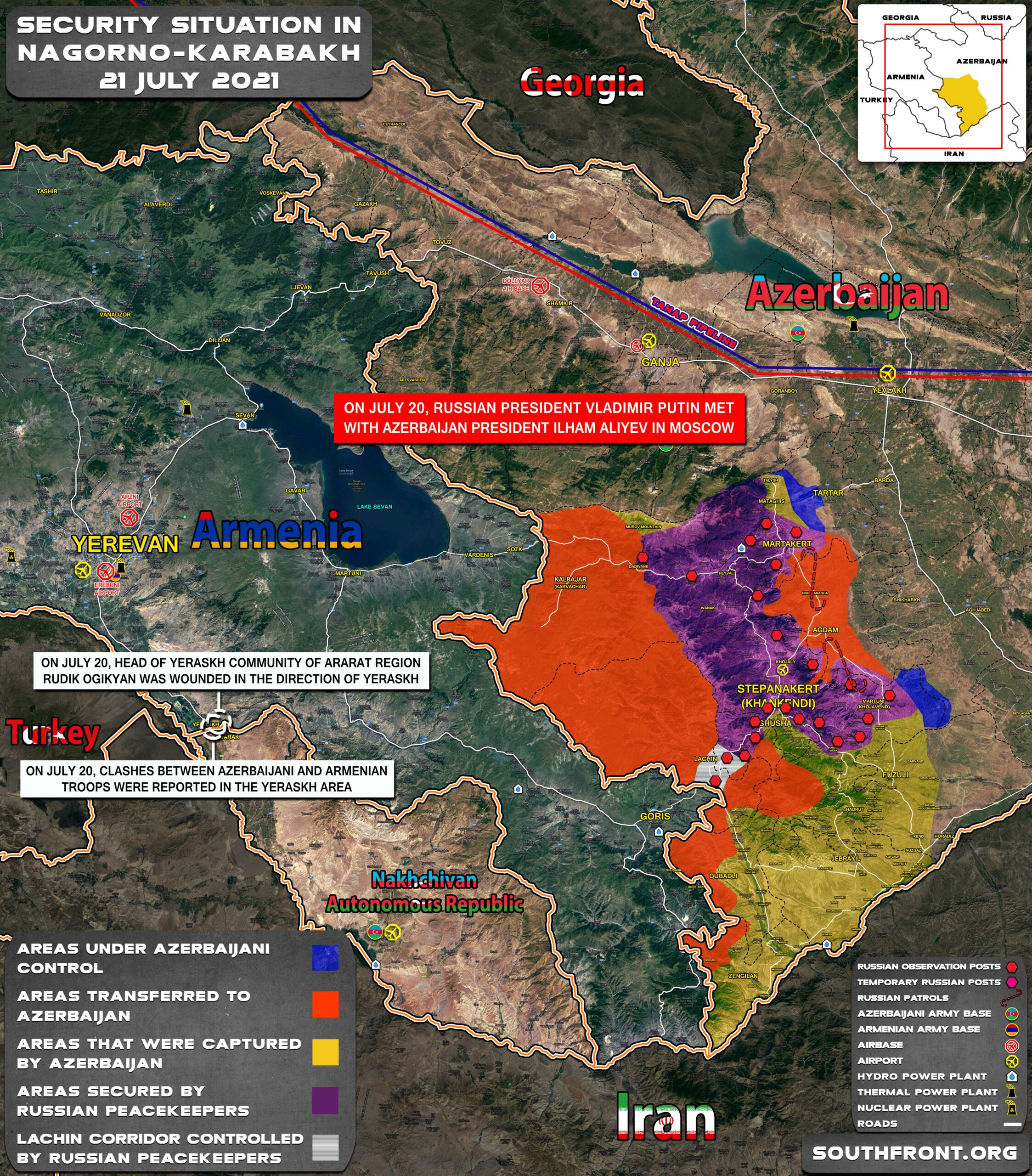 Military Situation In Nagorno-Karabakh On July 21, 2021 (Map Update)