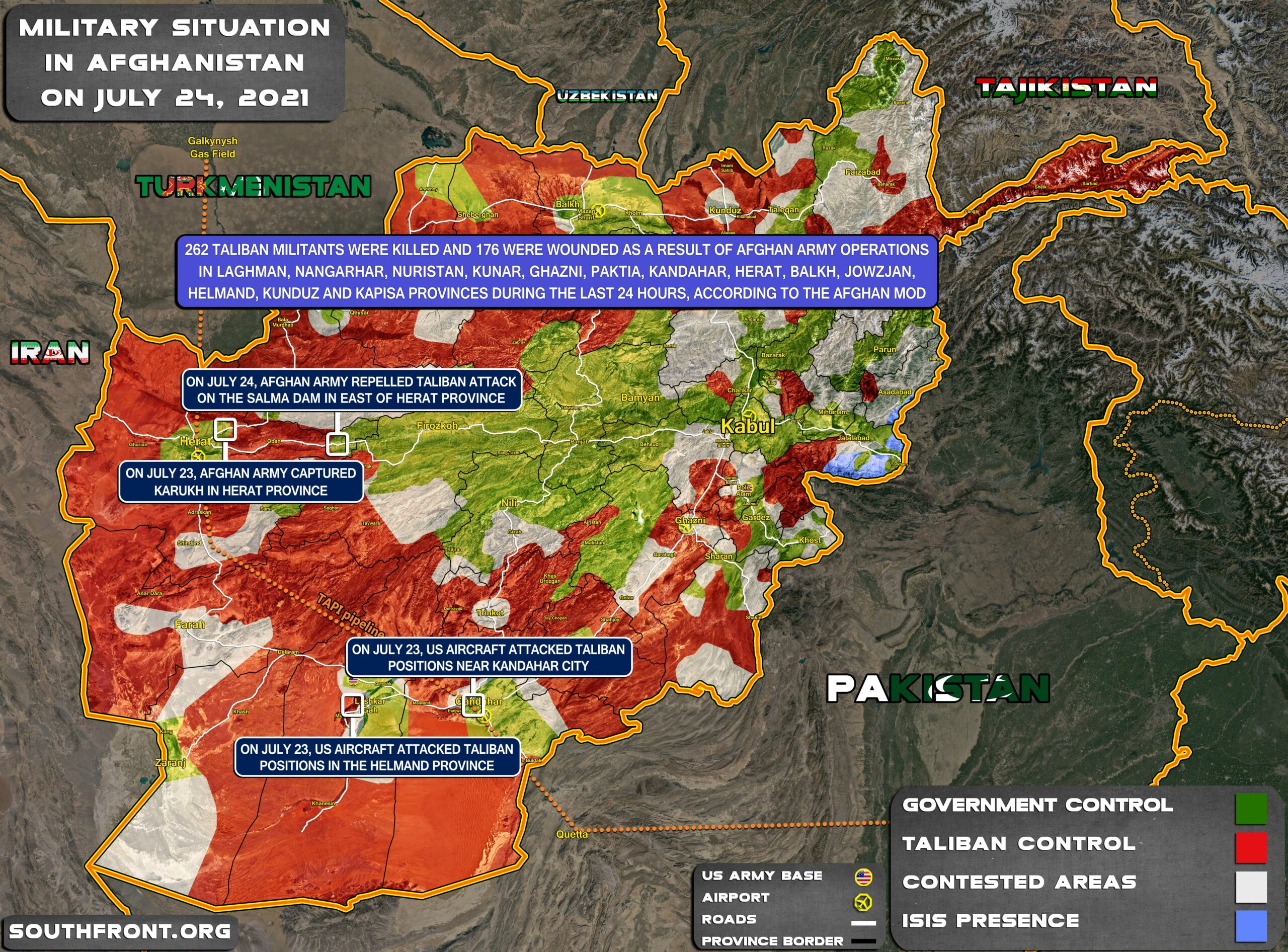 Military Situation In Afghanistan On July 24, 2021 (Map Update)