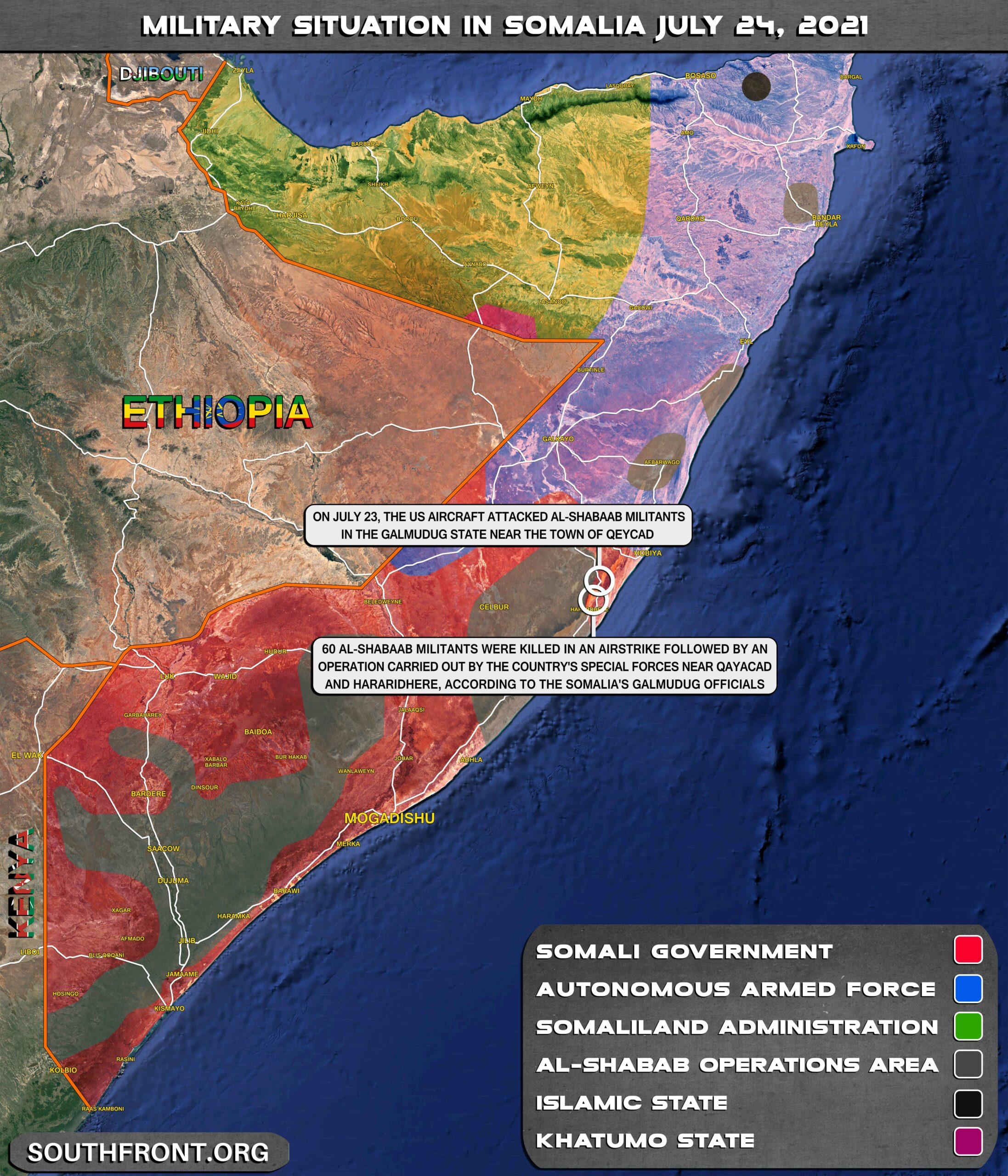 Military Situation In Somalia On July 24, 2021 (Map Update)