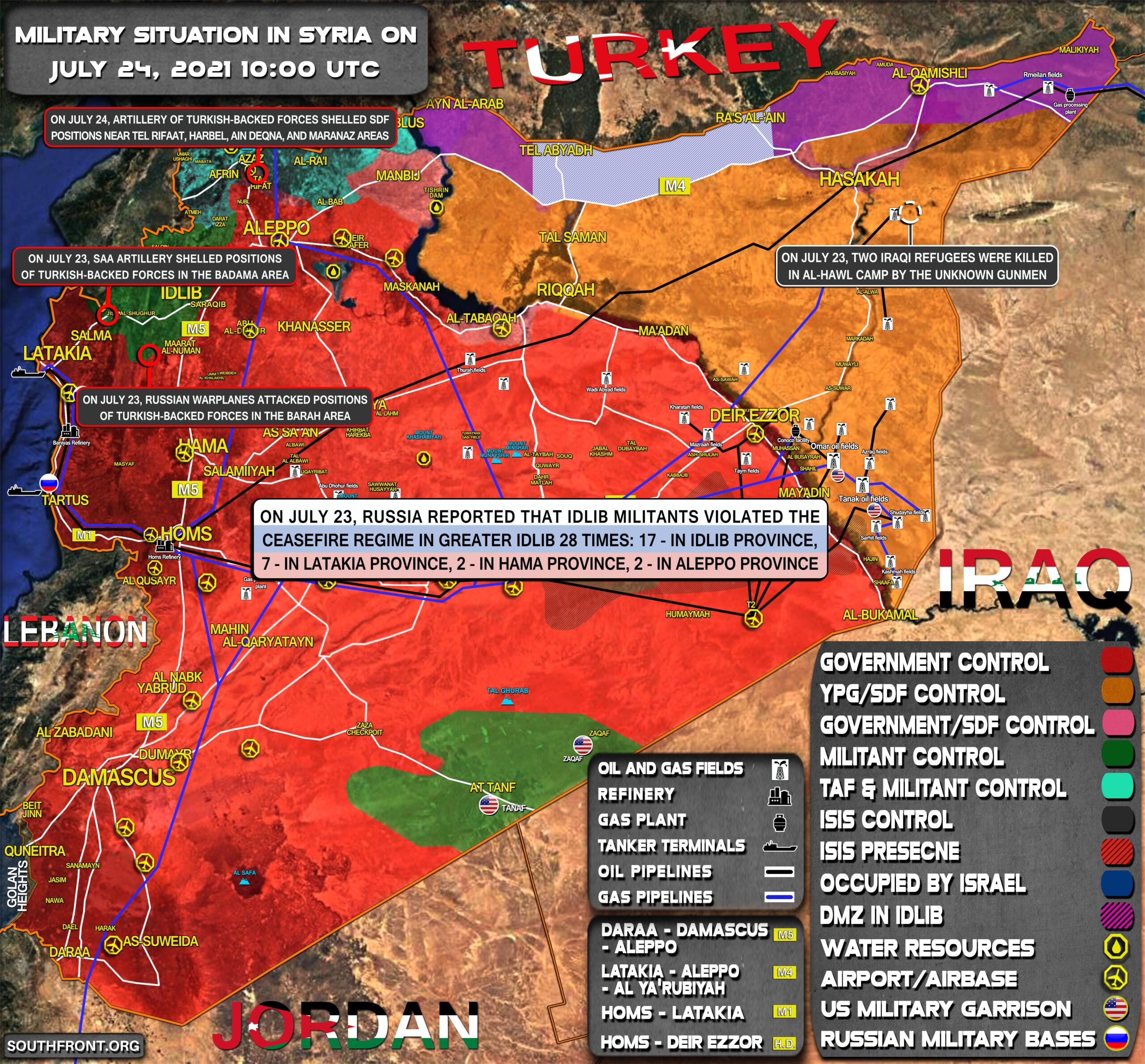 Military Situation In Syria On July 24, 2021 (Map Update)