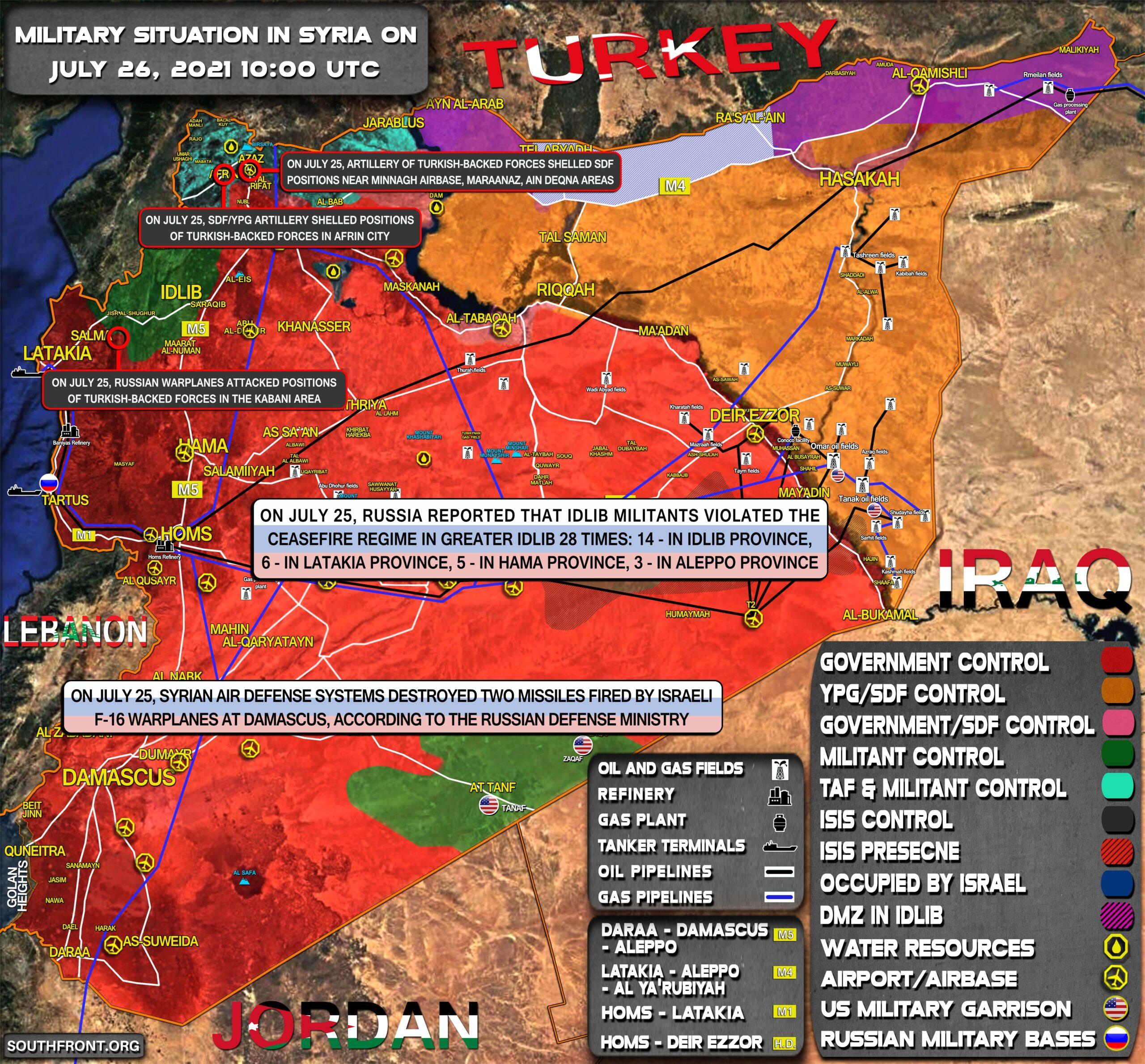 Military Situation In Syria On July 26, 2021 (Map Update)