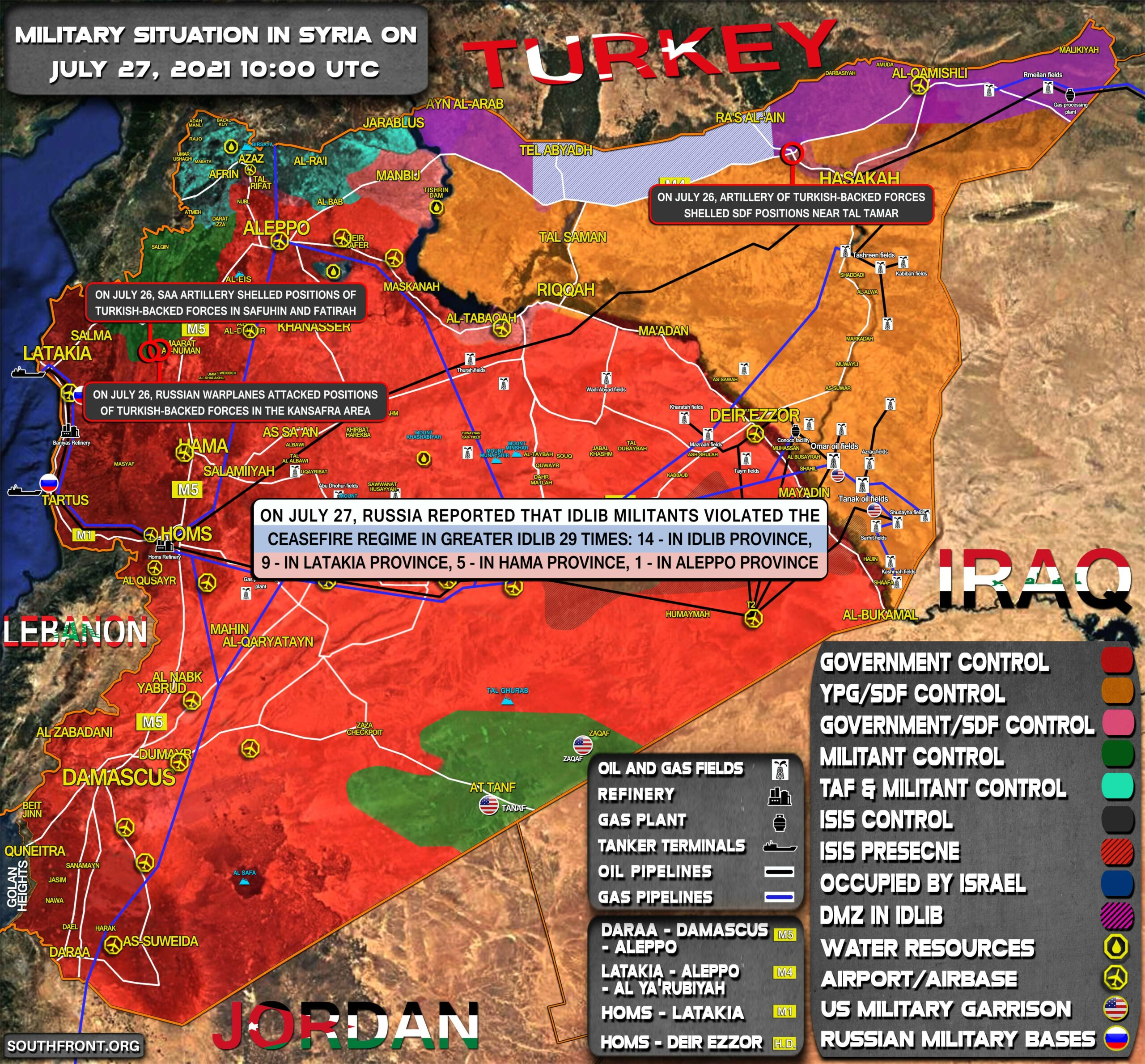 Military Situation In Syria On July 27, 2021 (Map Update)