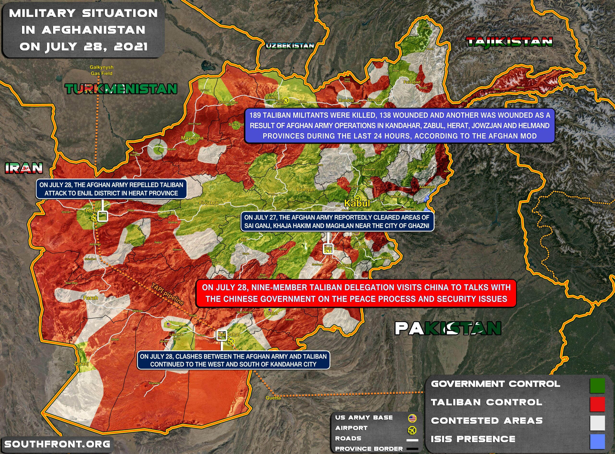Military Situation In Afghanistan On July 28, 2021 (Map Update)