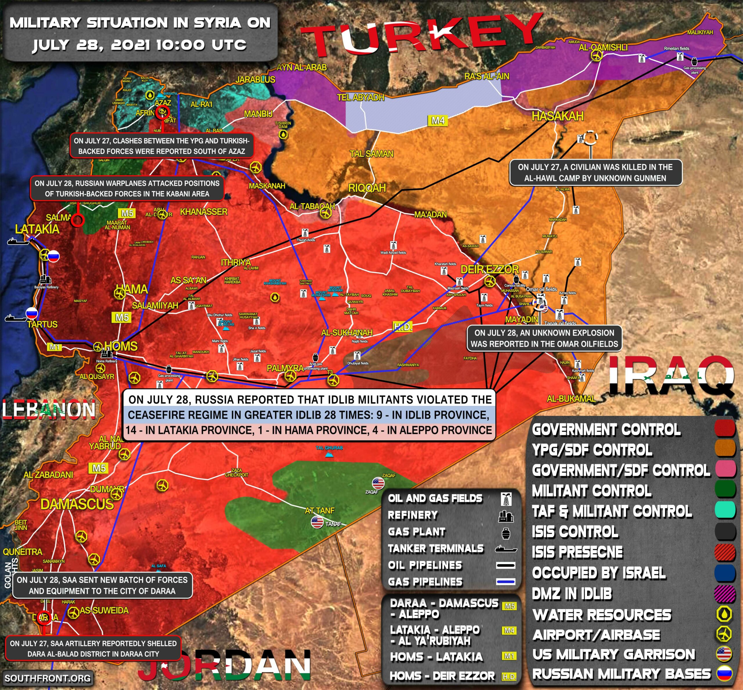 Military Situation In Syria On July 28, 2021 (Map Update)