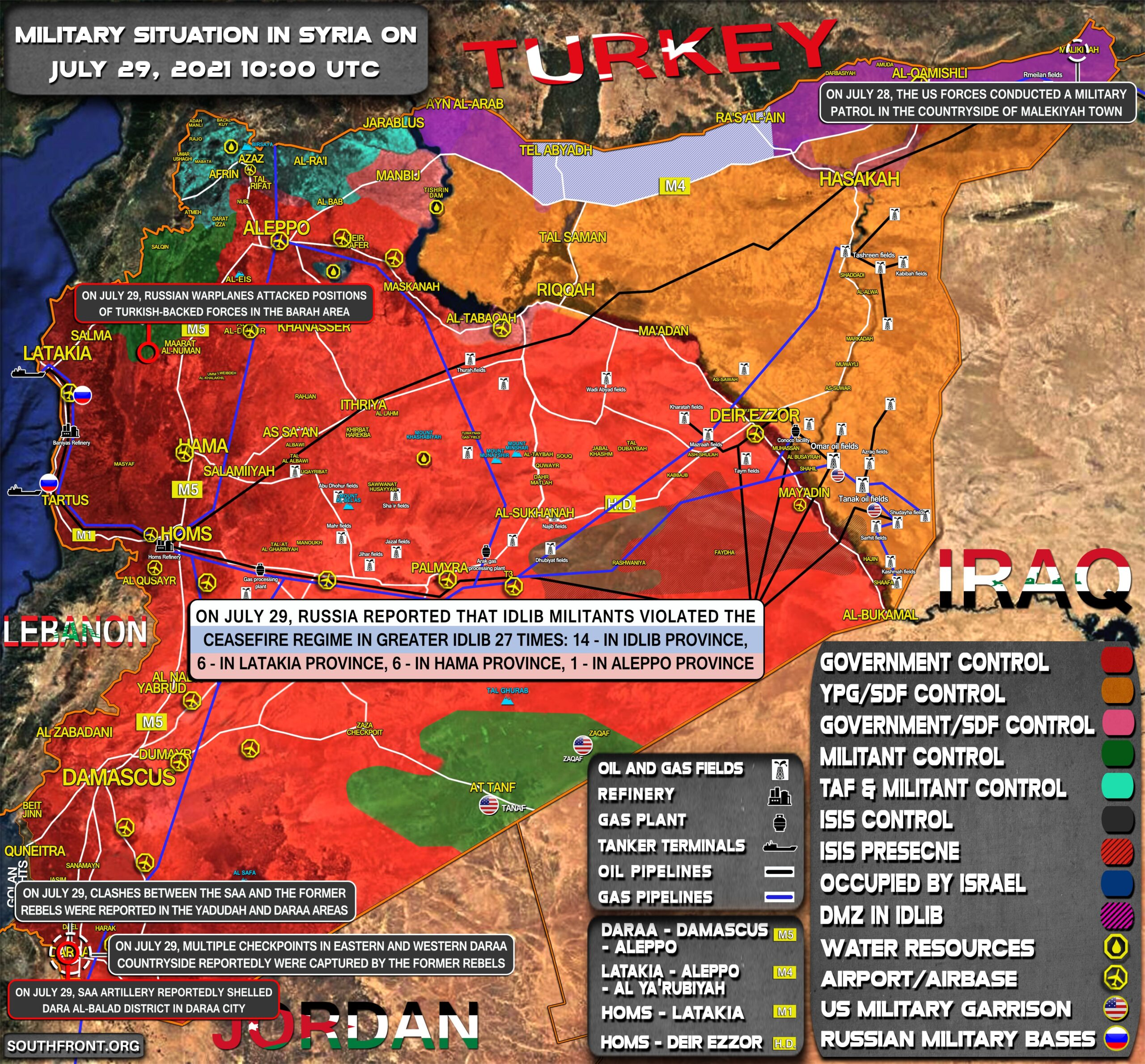 Military Situation In Syria On July 29, 2021 (Map Update)