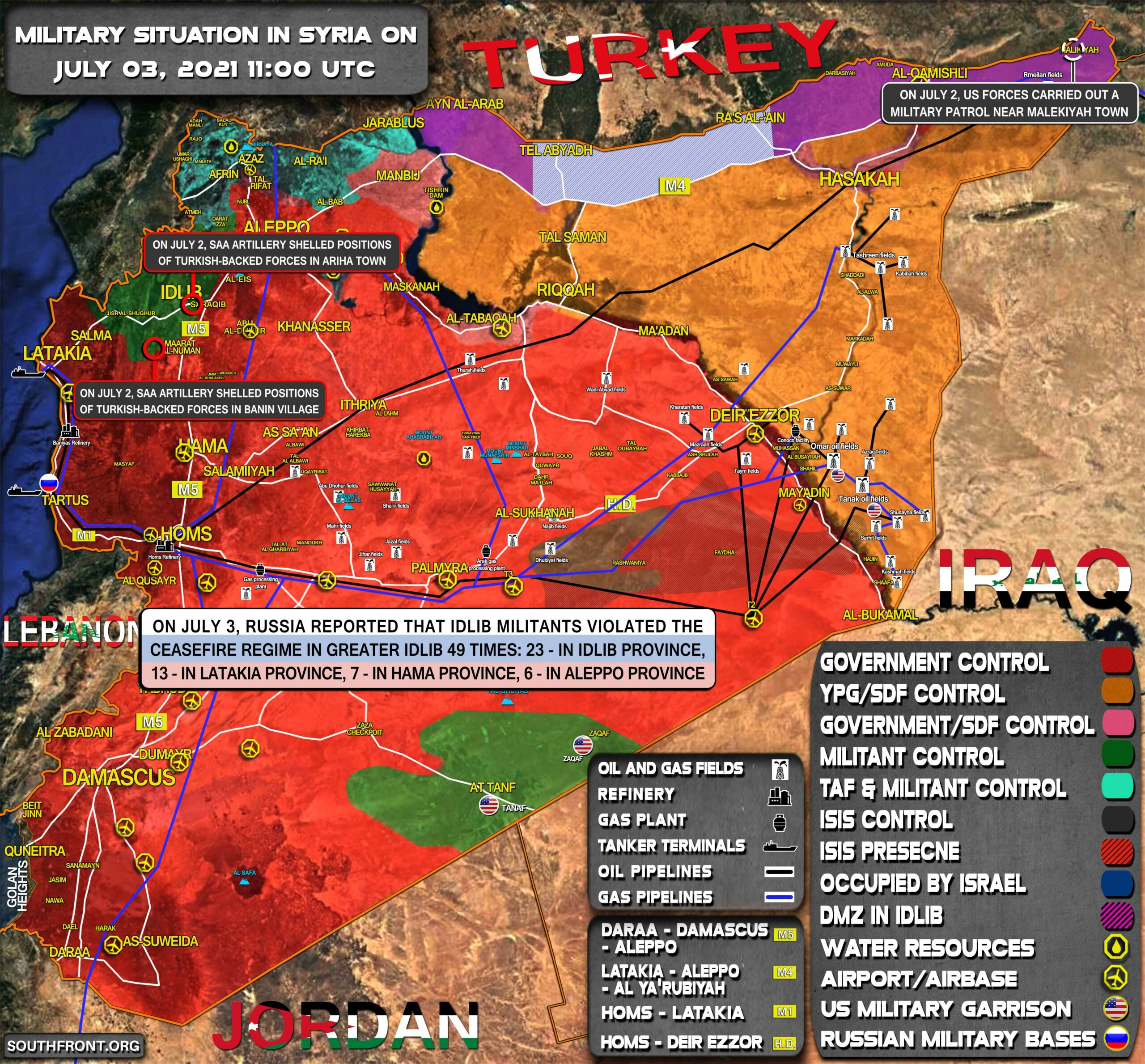 Military Situation In Syria On July 3, 2021 (Map Update)