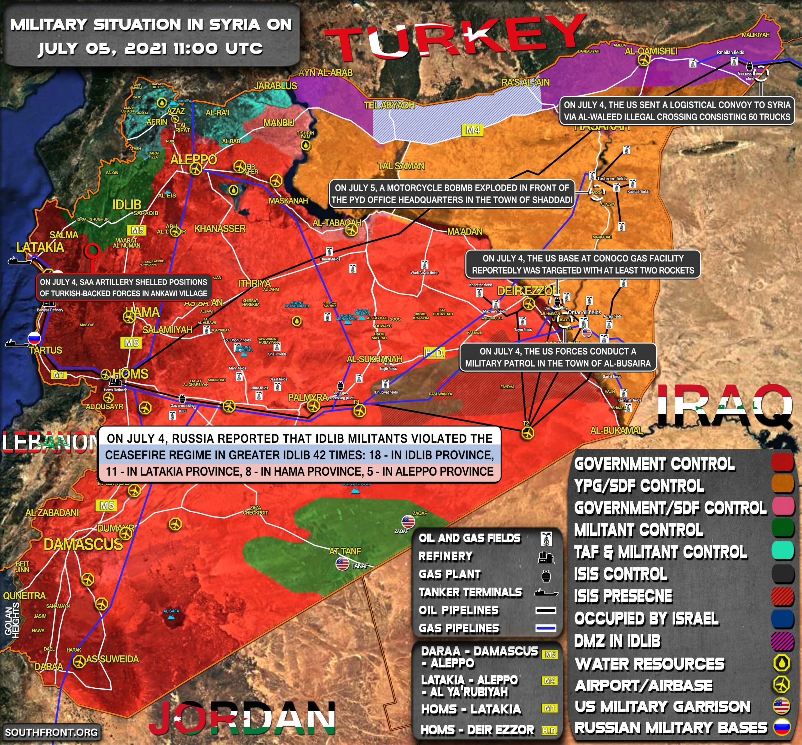 Military Situation In Syria On July 5, 2021 (Map Update)