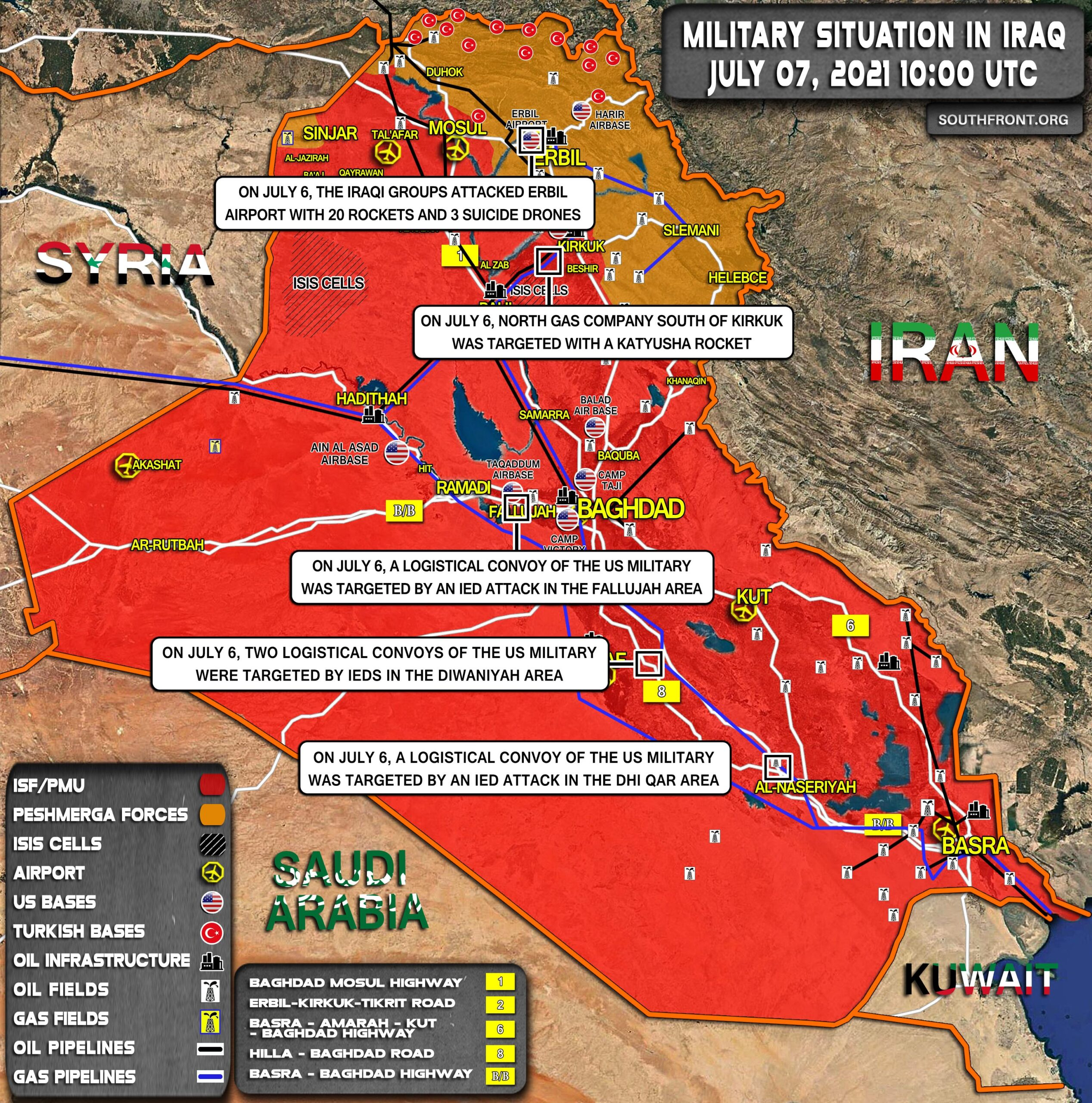 Military Situation In Iraq On July 7, 2021 (Map Update)
