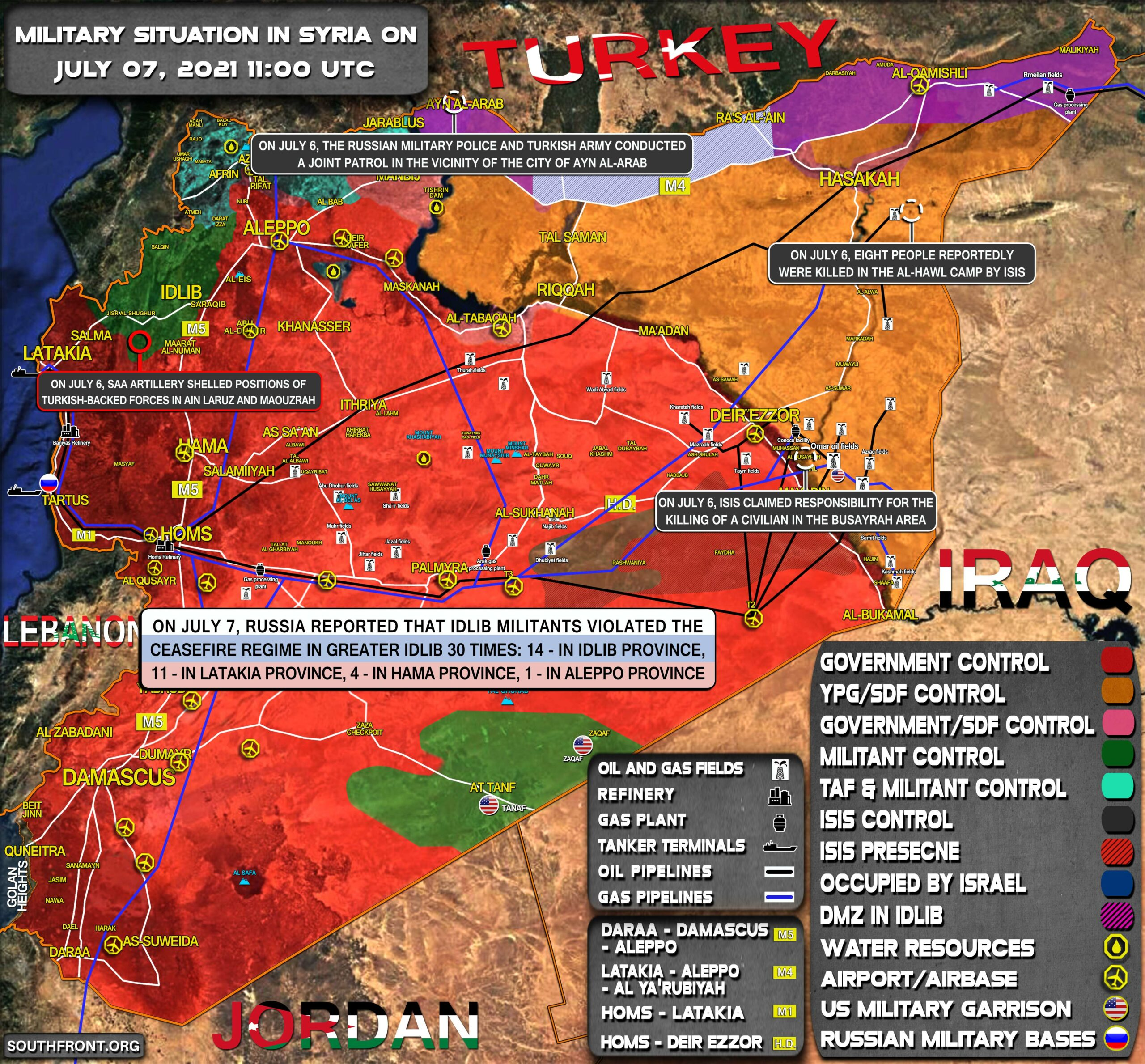 Military Situation In Syria On July 7, 2021 (Map Update)