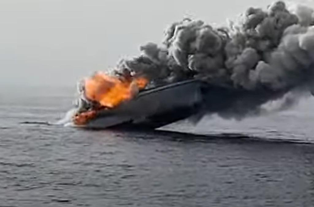 In Video: Italian Patrol Boat Sank In Mediterranean After Engine Fire