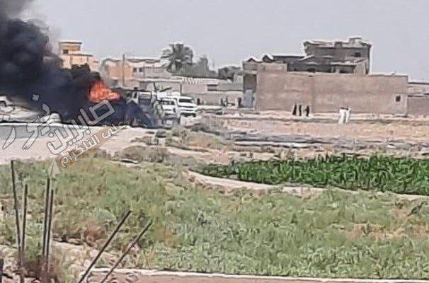 Suspected US Strike Destroyed PMU Truck On Syrian-Iraqi Border (Video)