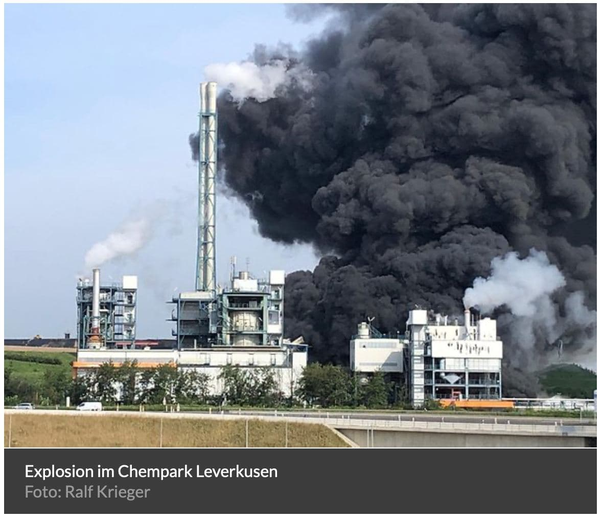 In Videos: Large Explosion At Chemical Plant In Leverkusen, Germany