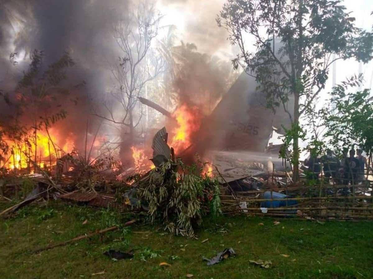 Footage: Dozens Killed In Philippines Military Plane Crash