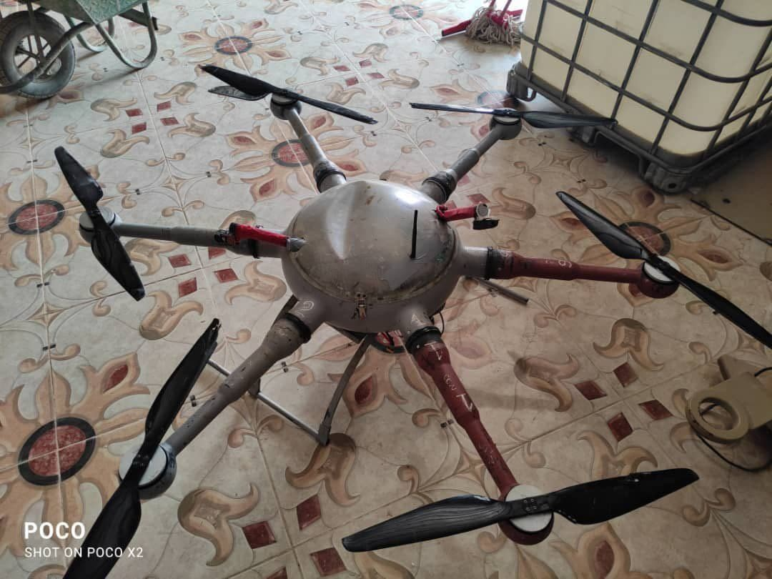 Recently-Unveiled Houthi Armed Drone Shot Down In Yemen's Ma'rib (Photos)