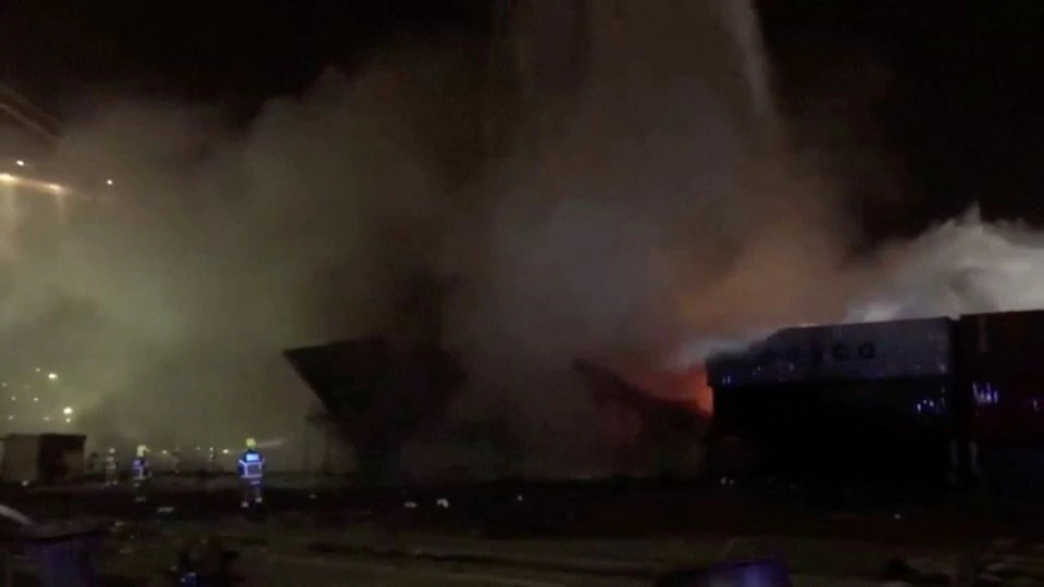 Container Ship At Dubai Port Blows Up In Fiery Explosion